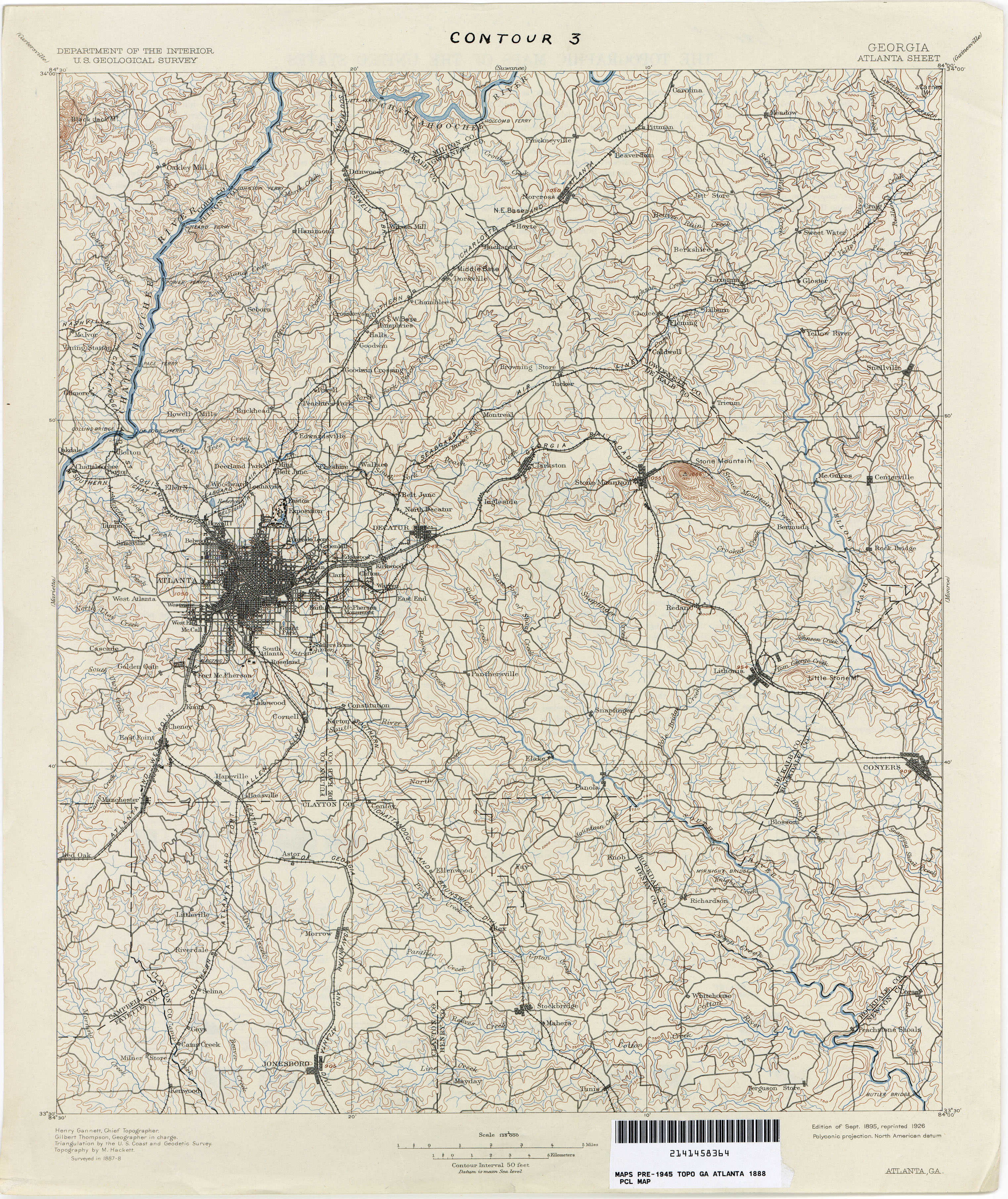 Georgia Historical Topographic Maps PerryCastañeda Map - Ga map