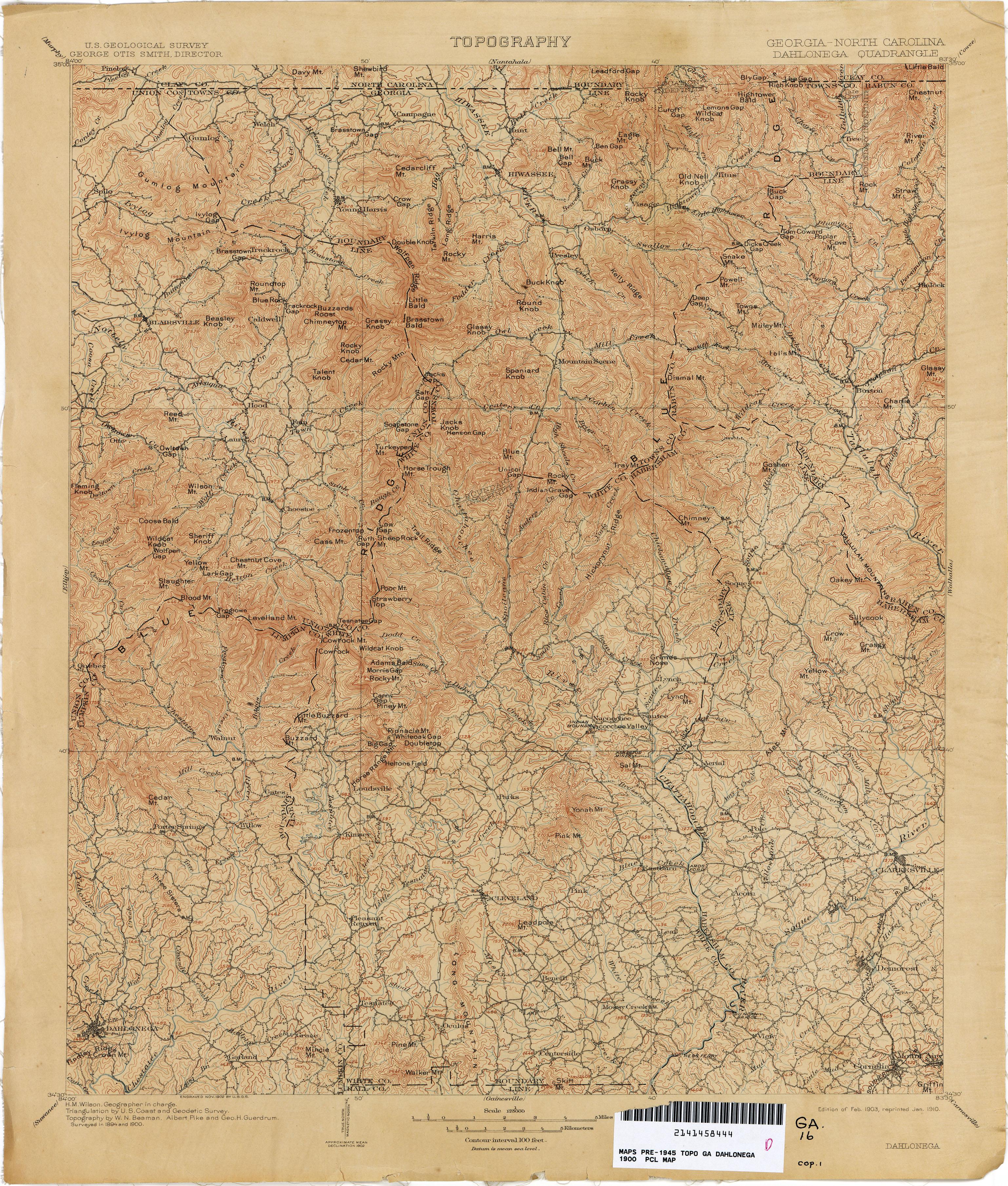Georgia Historical Topographic Maps PerryCastañeda Map - Georgia map dahlonega