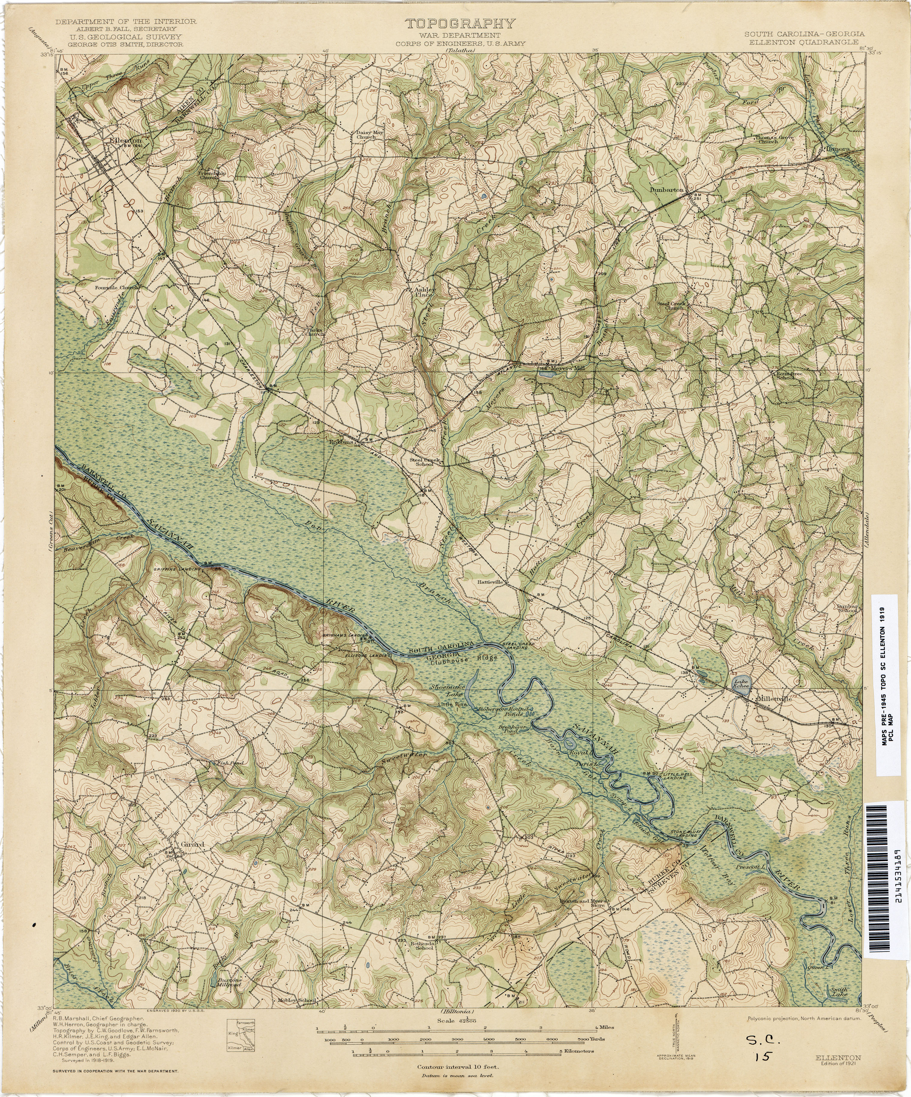 Map Of Georgia And South Carolina.South Carolina Historical Topographic Maps Perry Castaneda Map