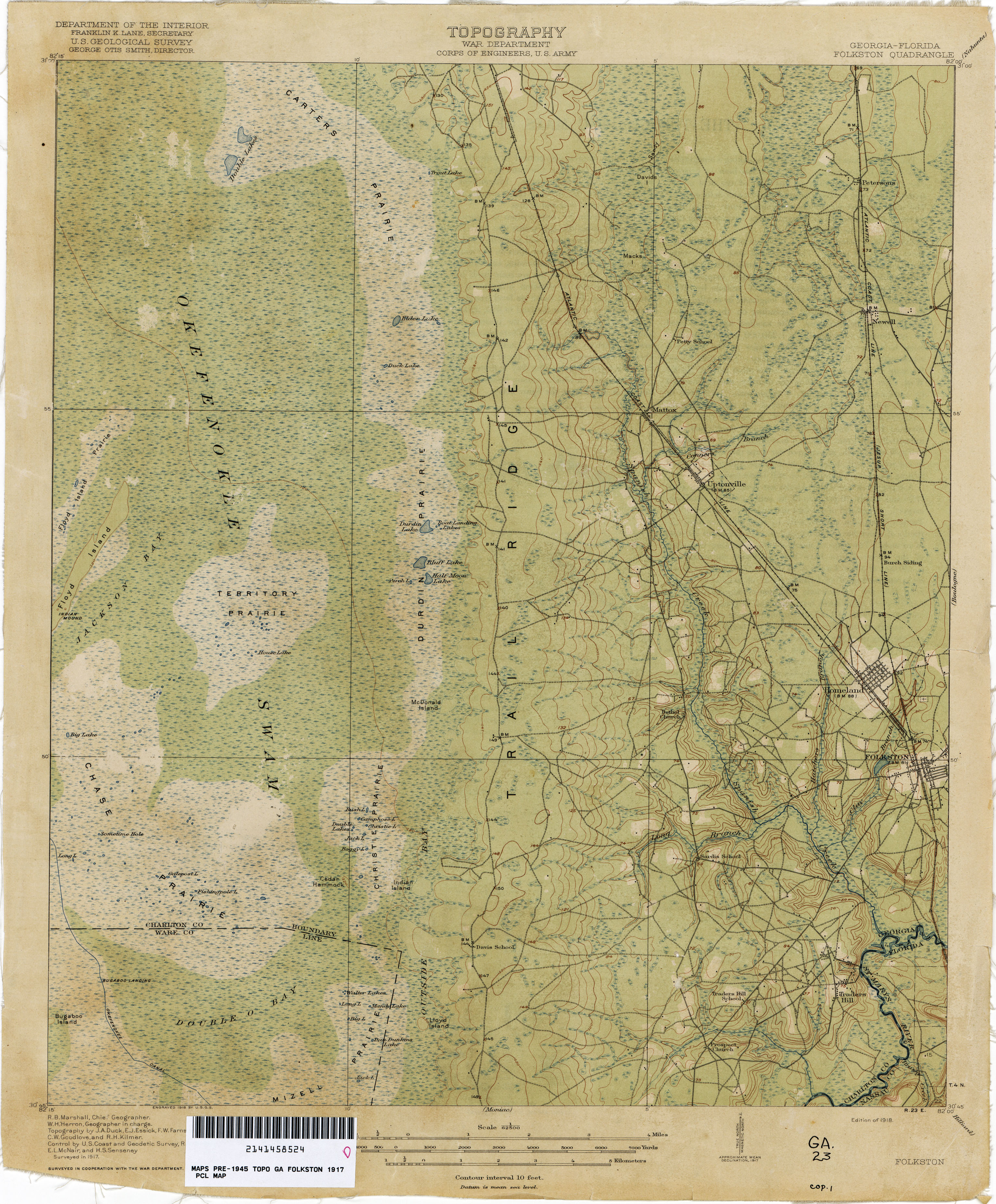 Georgia Florida Map.Florida Historical Topographic Maps Perry Castaneda Map Collection