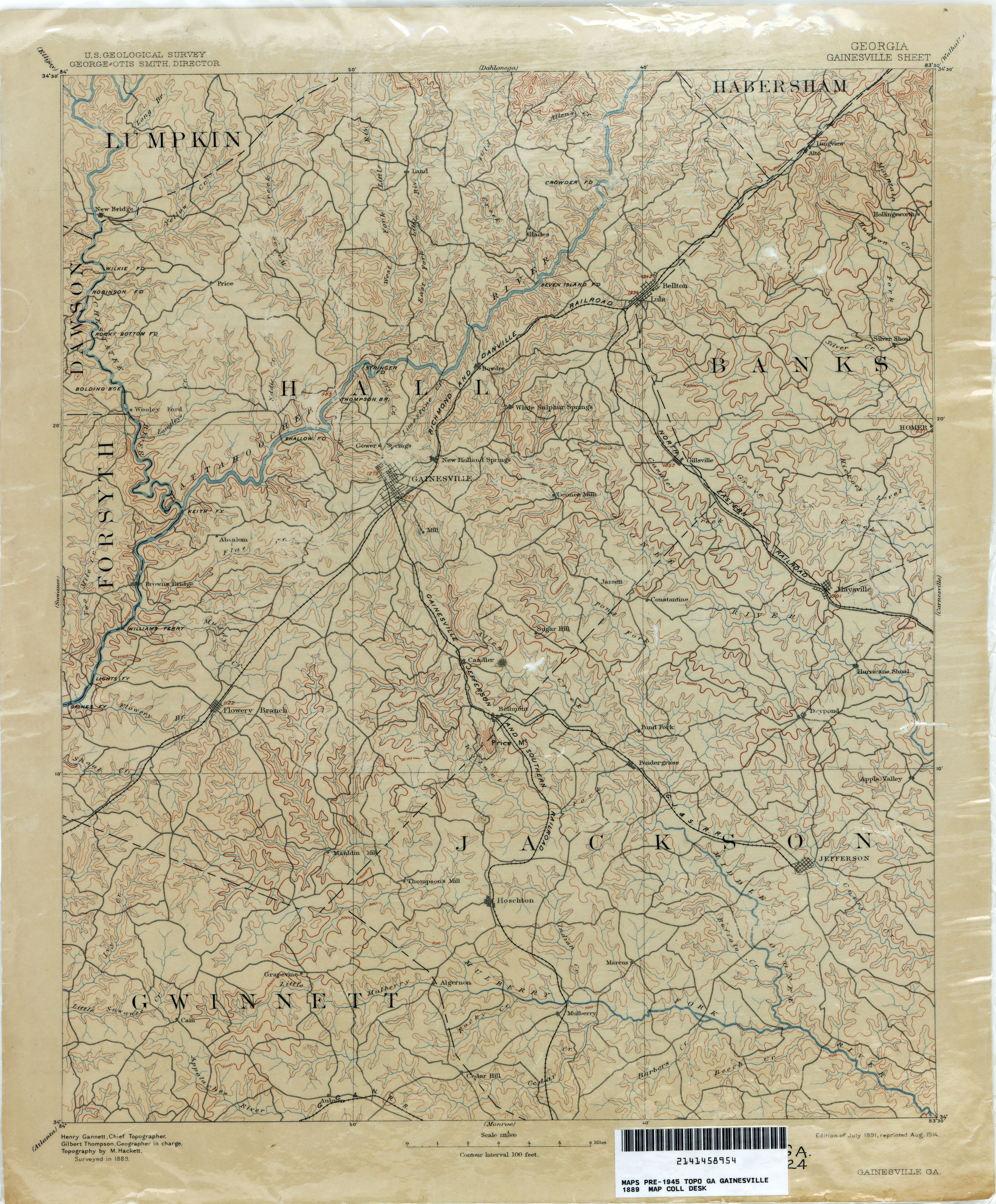 Map Of Georgia Ellijay.Georgia Historical Topographic Maps Perry Castaneda Map Collection