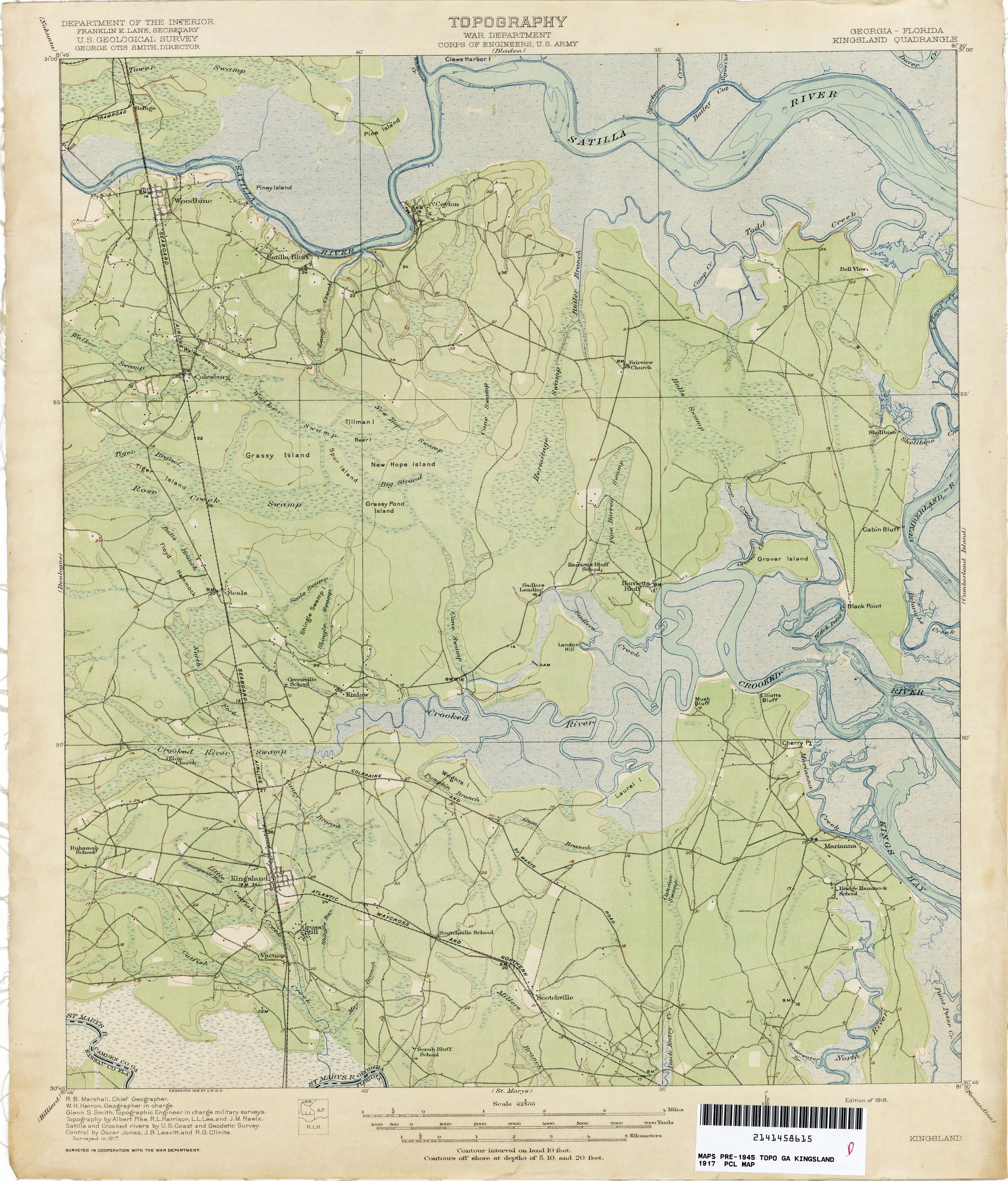 Map Of Kingsland Georgia.Georgia Historical Topographic Maps Perry Castaneda Map Collection