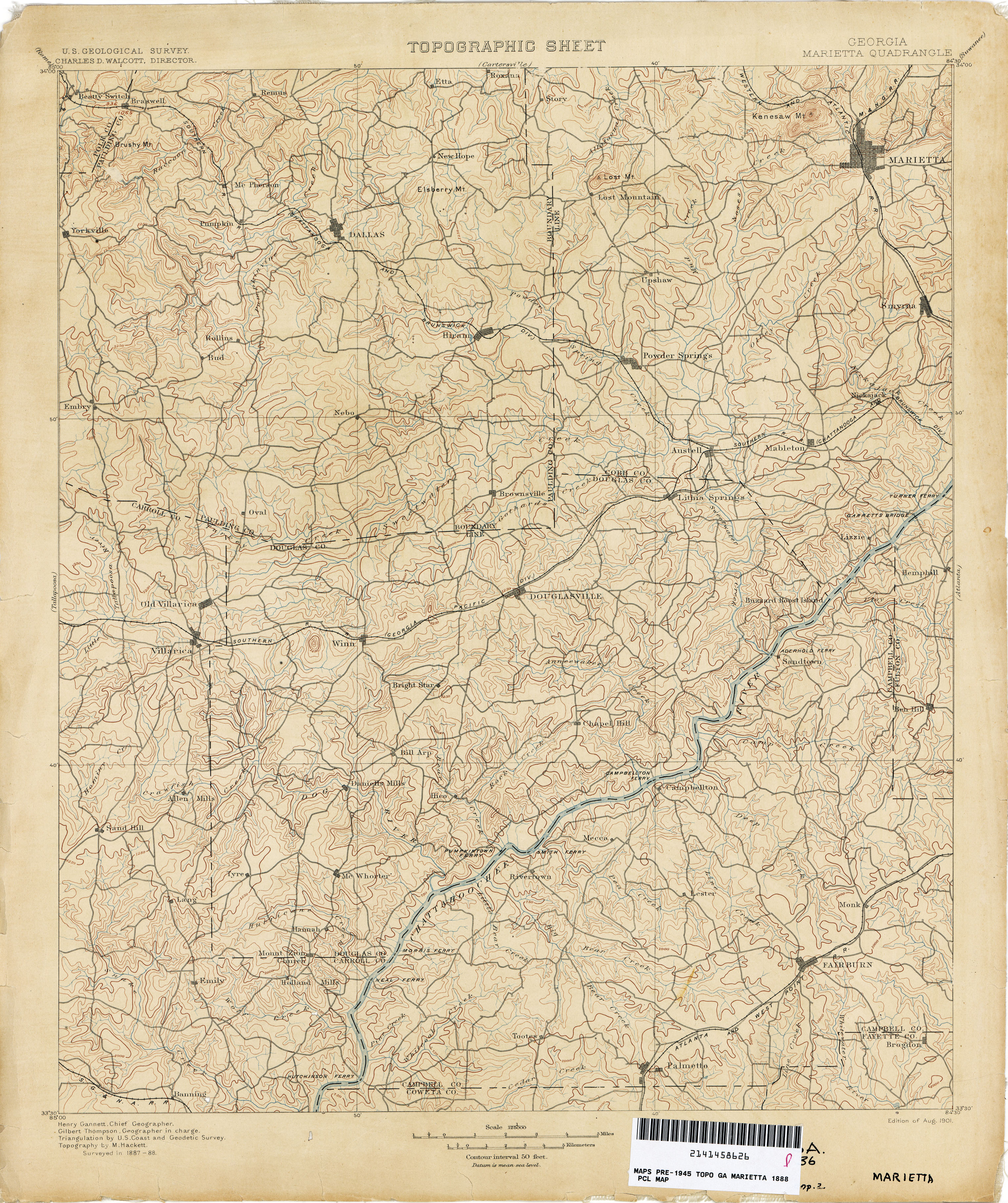Georgia Historical Topographic Maps Perry Castaneda Map Collection
