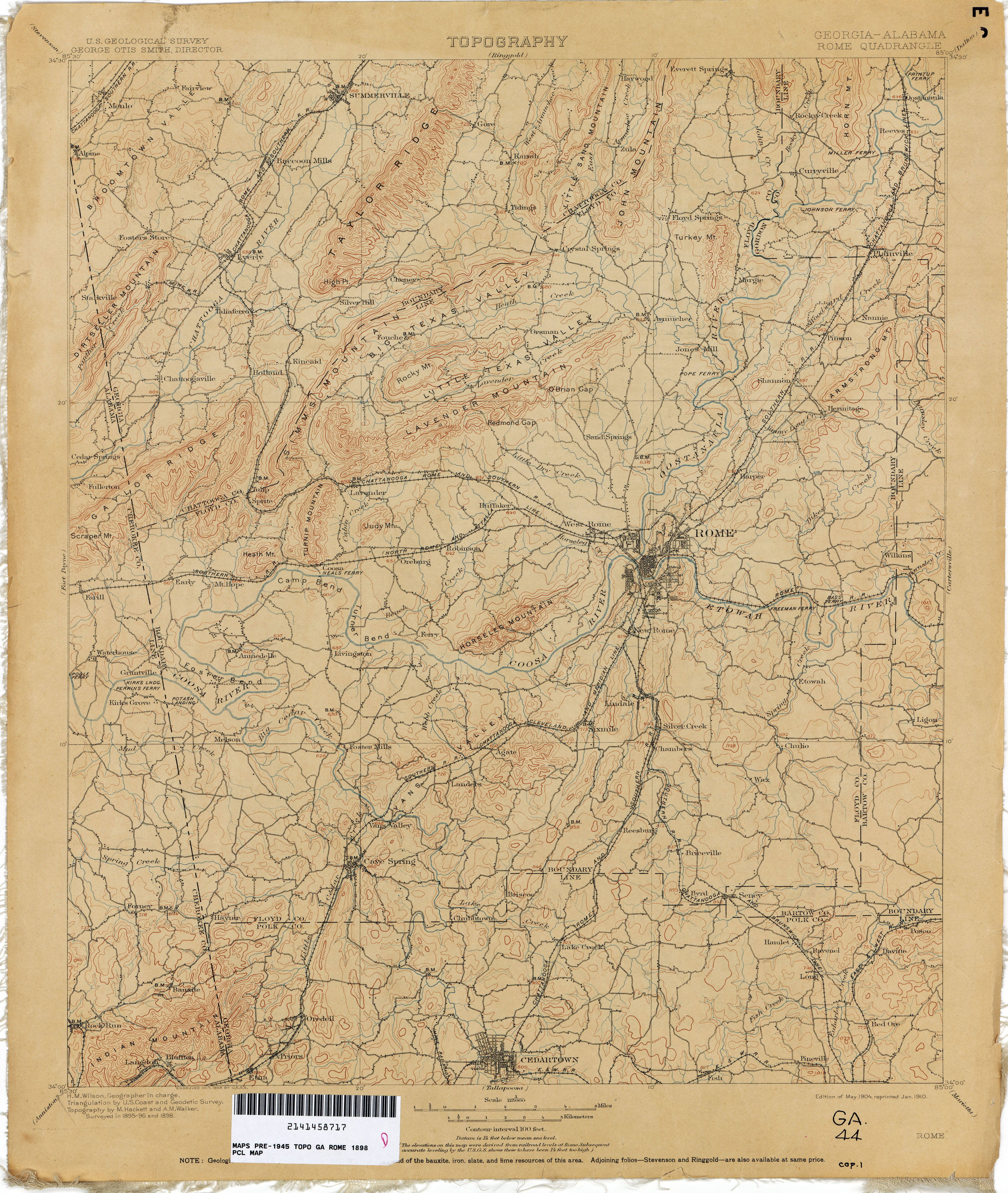 Georgia Historical Topographic Maps PerryCastañeda Map - Georgia map rome