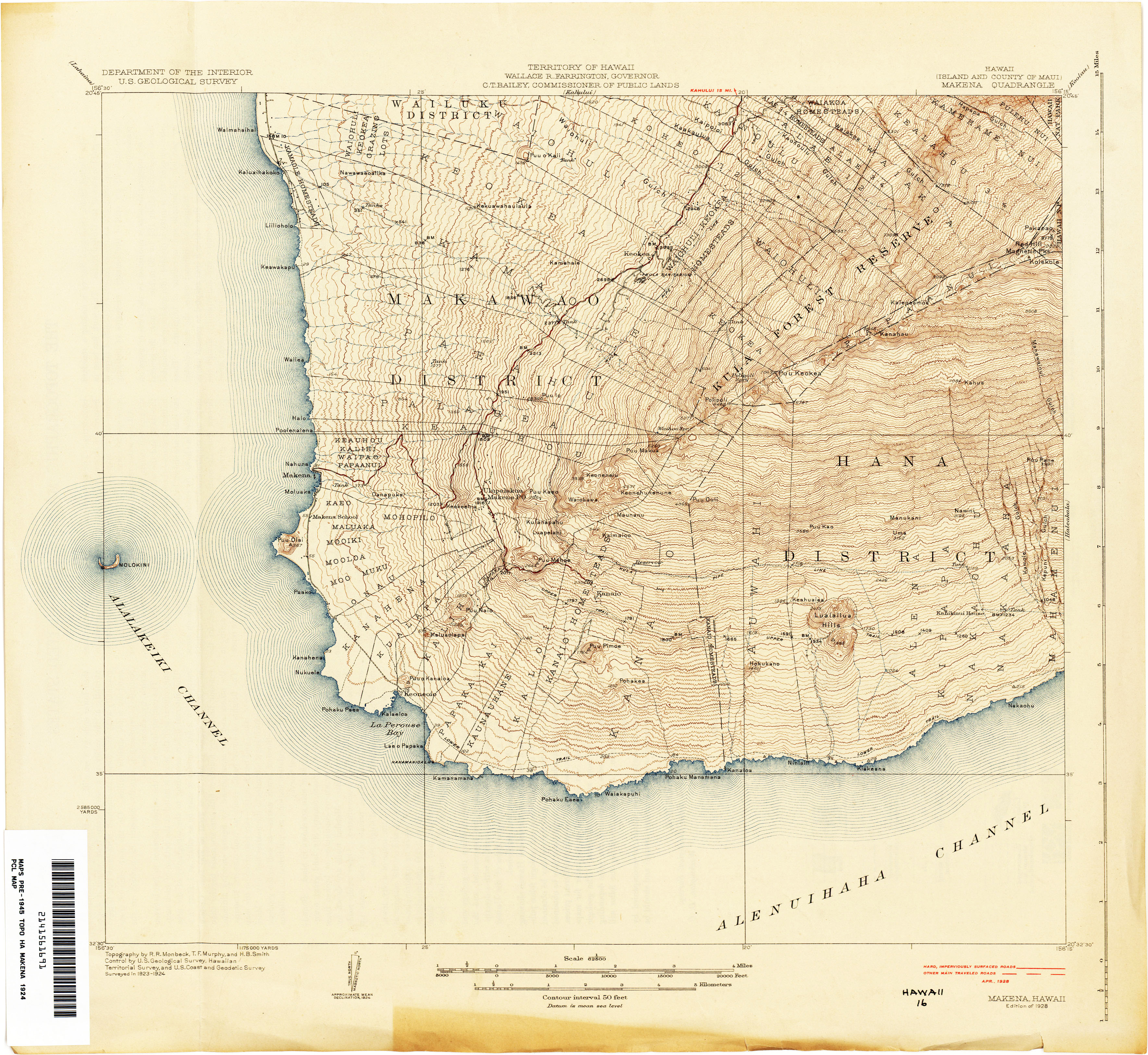 Topographic Map Of Maui.Hawaii Topographic Maps Perry Castaneda Map Collection Ut