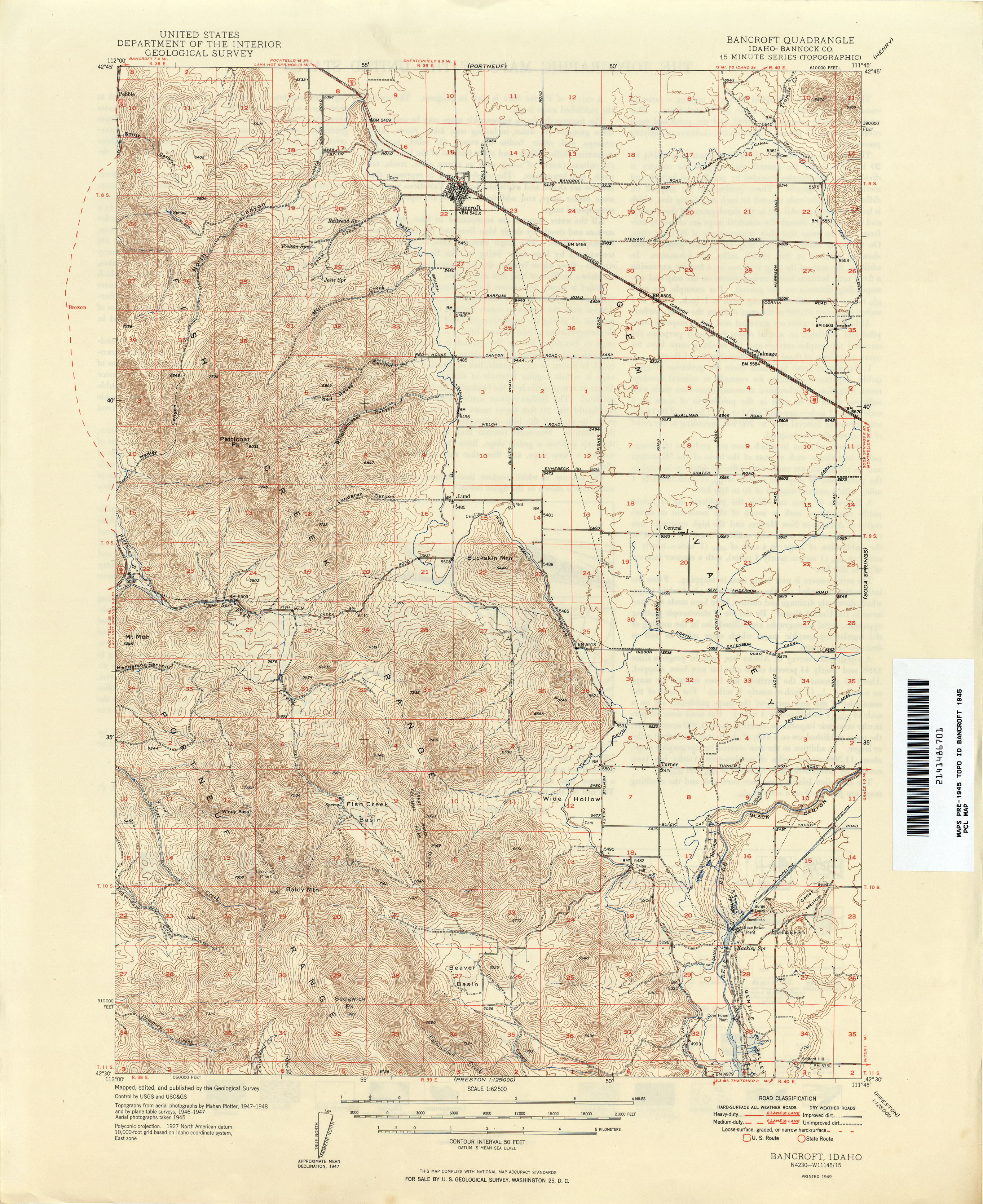 Idaho Historical Topographic Maps PerryCastañeda Map Collection - Topographical map of idaho