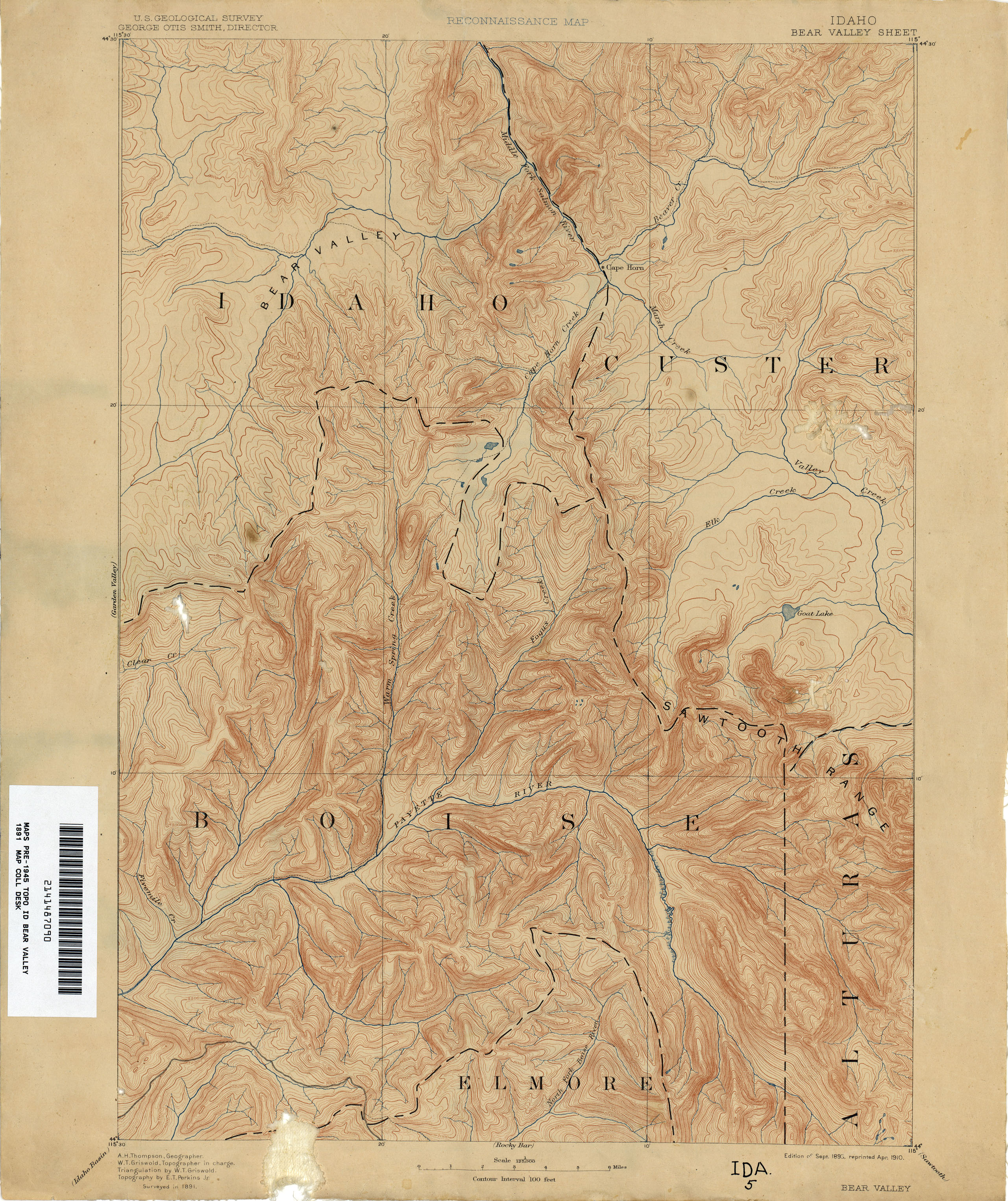 Idaho Historical Topographic Maps - Perry-Castañeda Map ...
