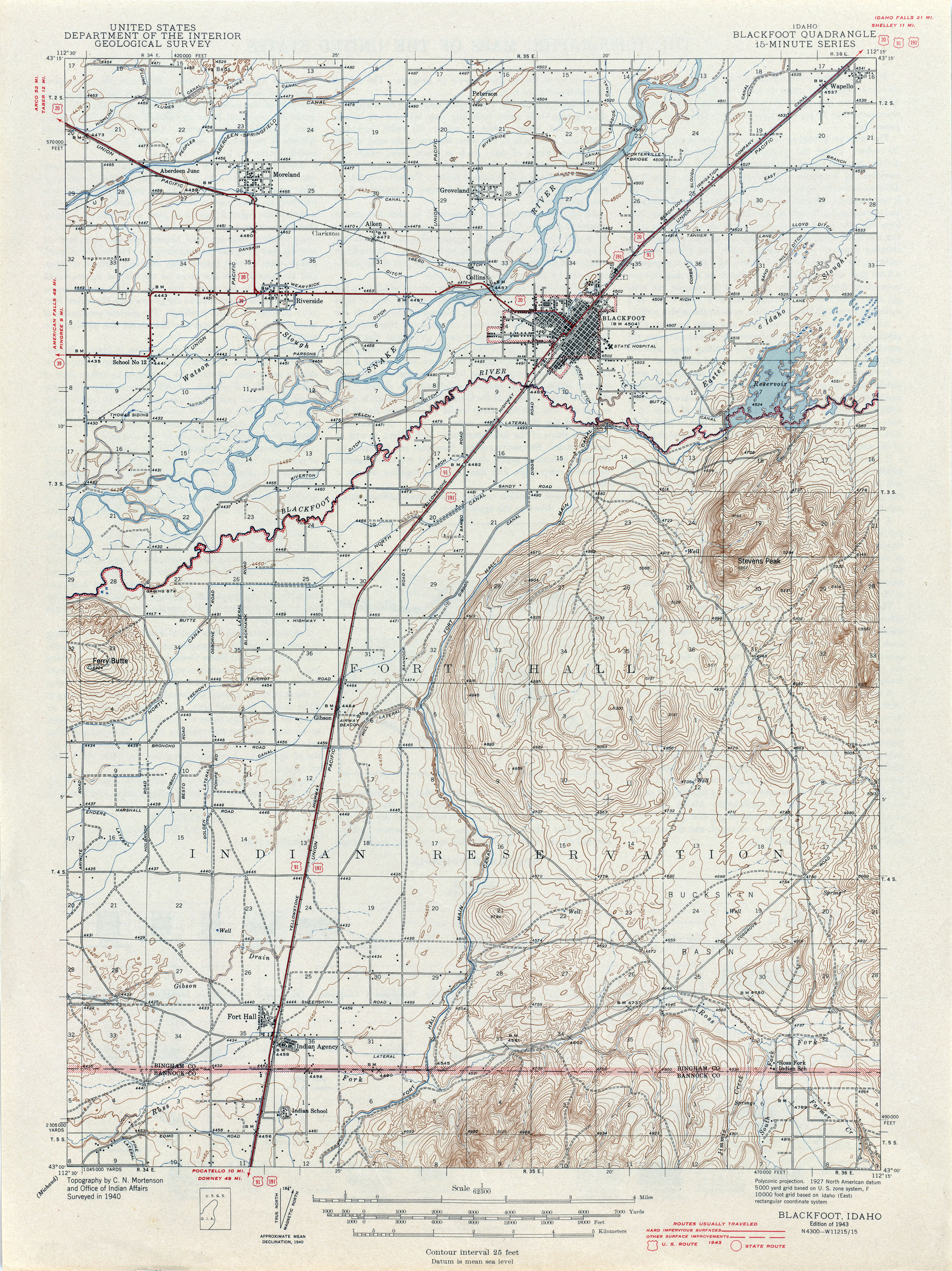 idaho historical topographic maps