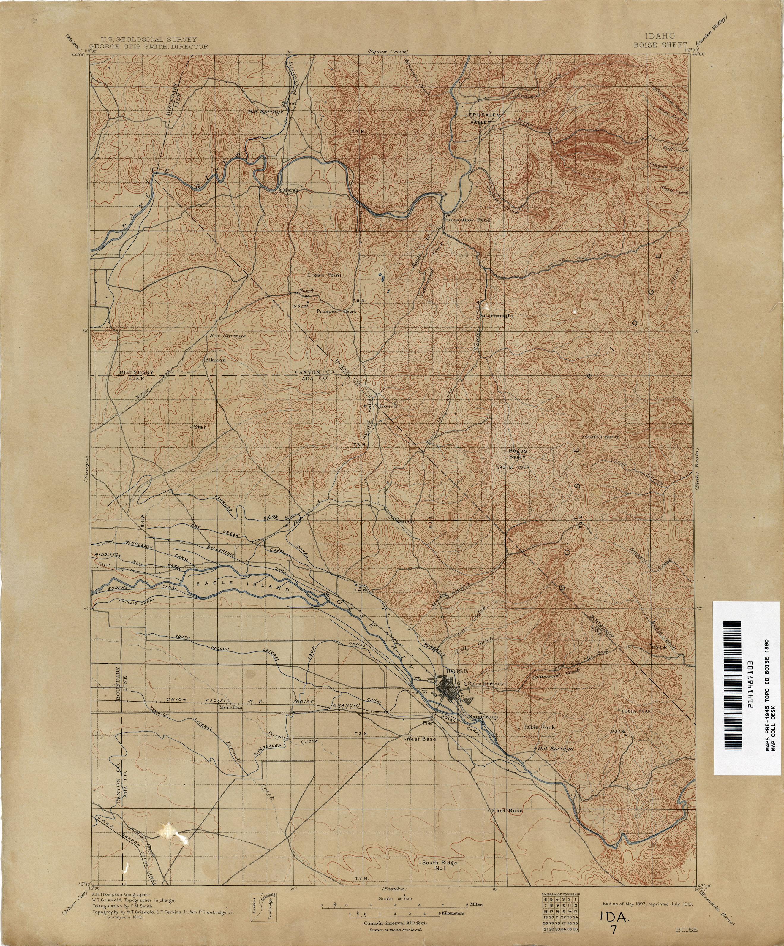 silver city idaho map Idaho Historical Topographic Maps Perry Castaneda Map Collection silver city idaho map