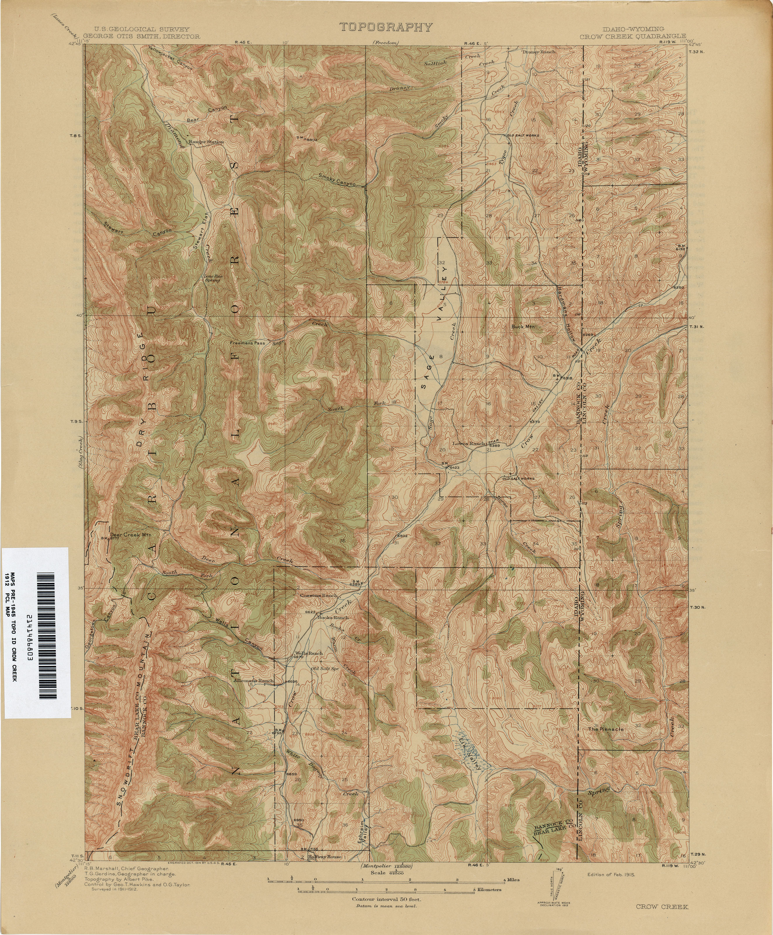 Idaho Historical Topographic Maps - Perry-Castañeda Map Collection ...