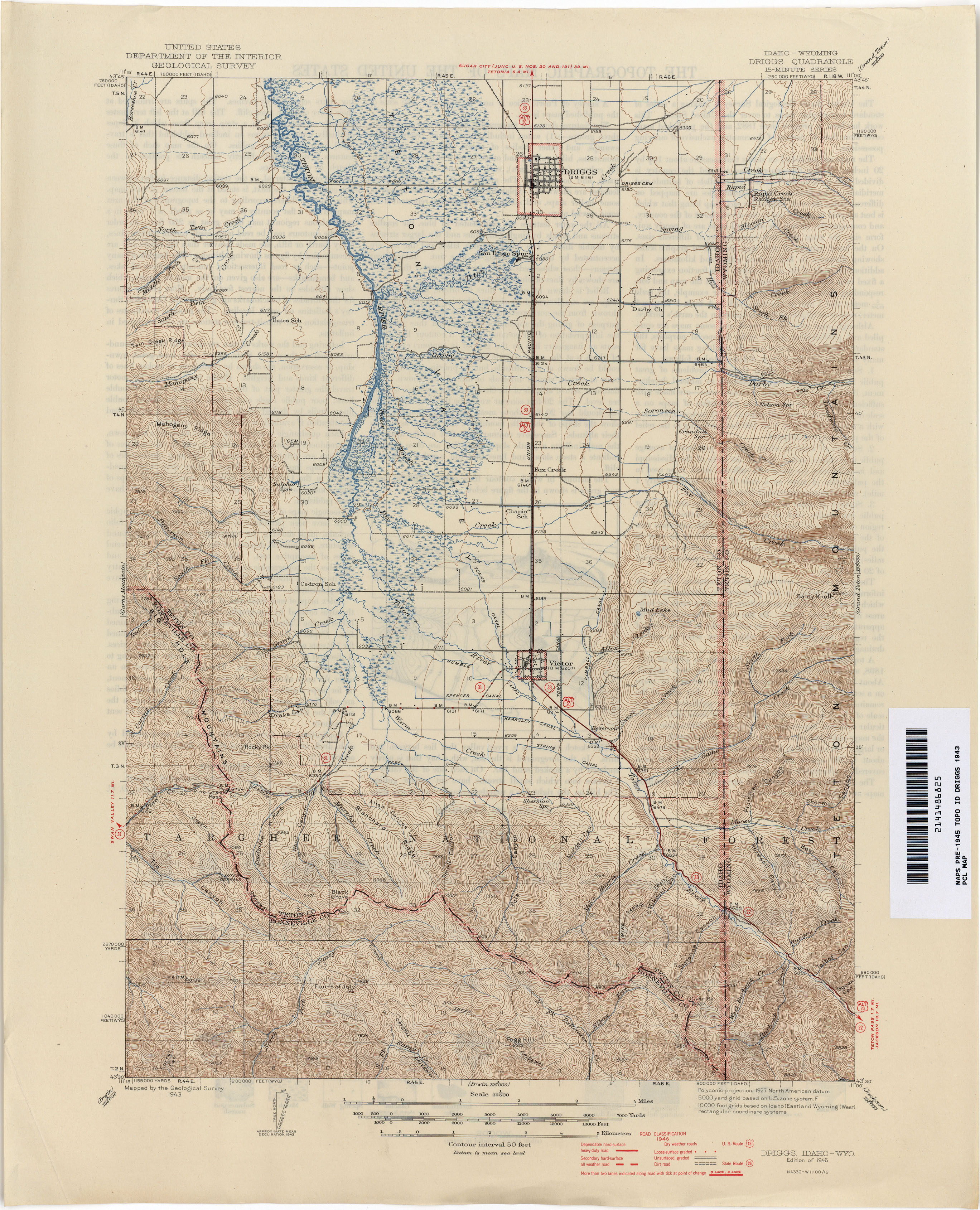 Idaho Historical Topographic Maps PerryCastañeda Map Collection - Maps of idaho
