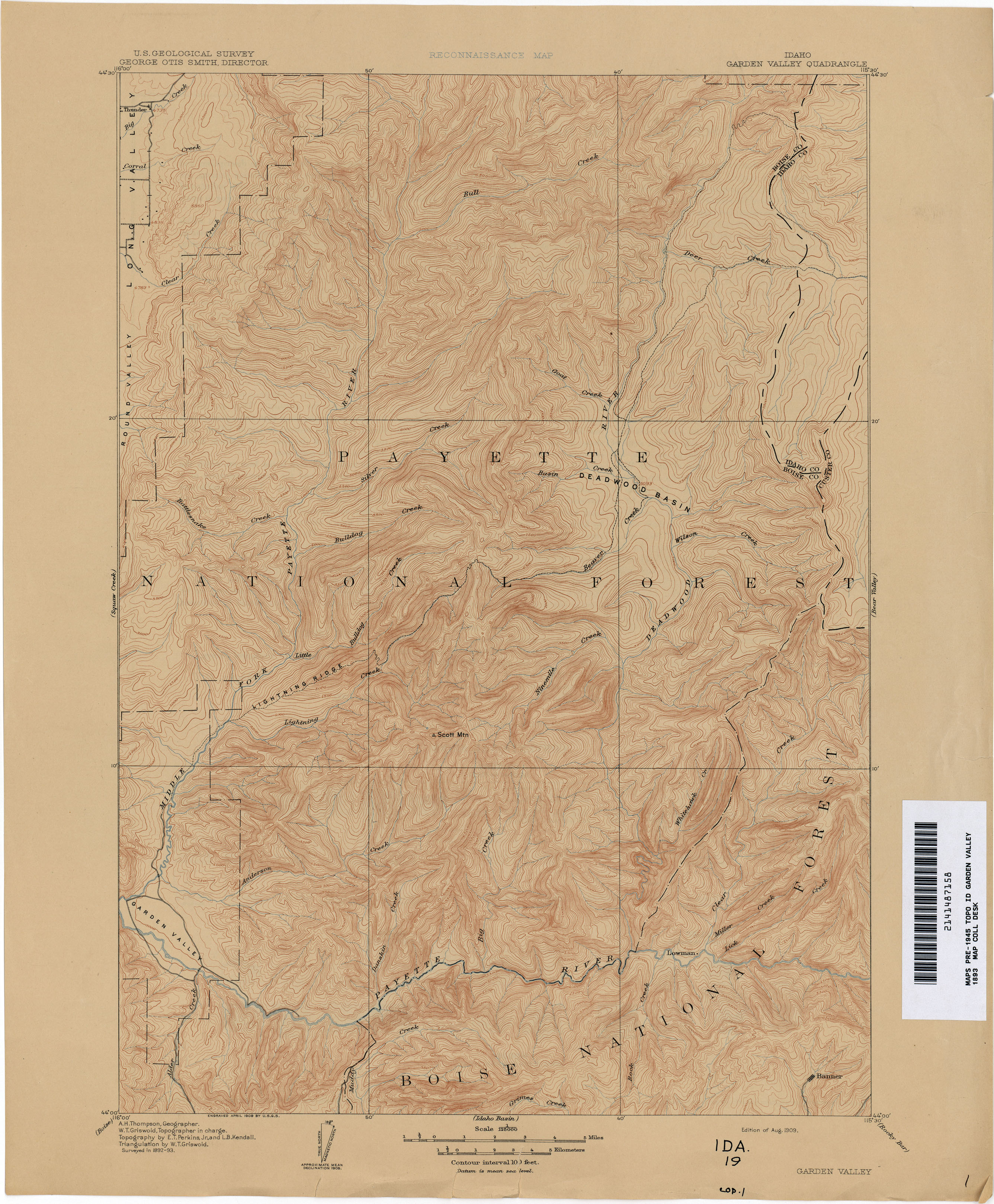 Idaho Historical Topographic Maps PerryCastañeda Map Collection - Us topographic maps online