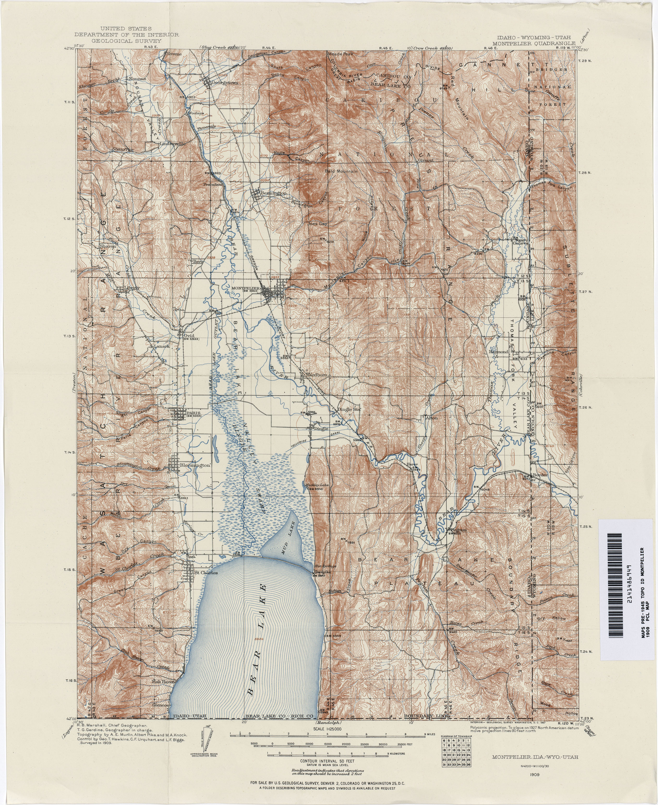 Utah Historical Topographic Maps PerryCastañeda Map Collection - Us map utah