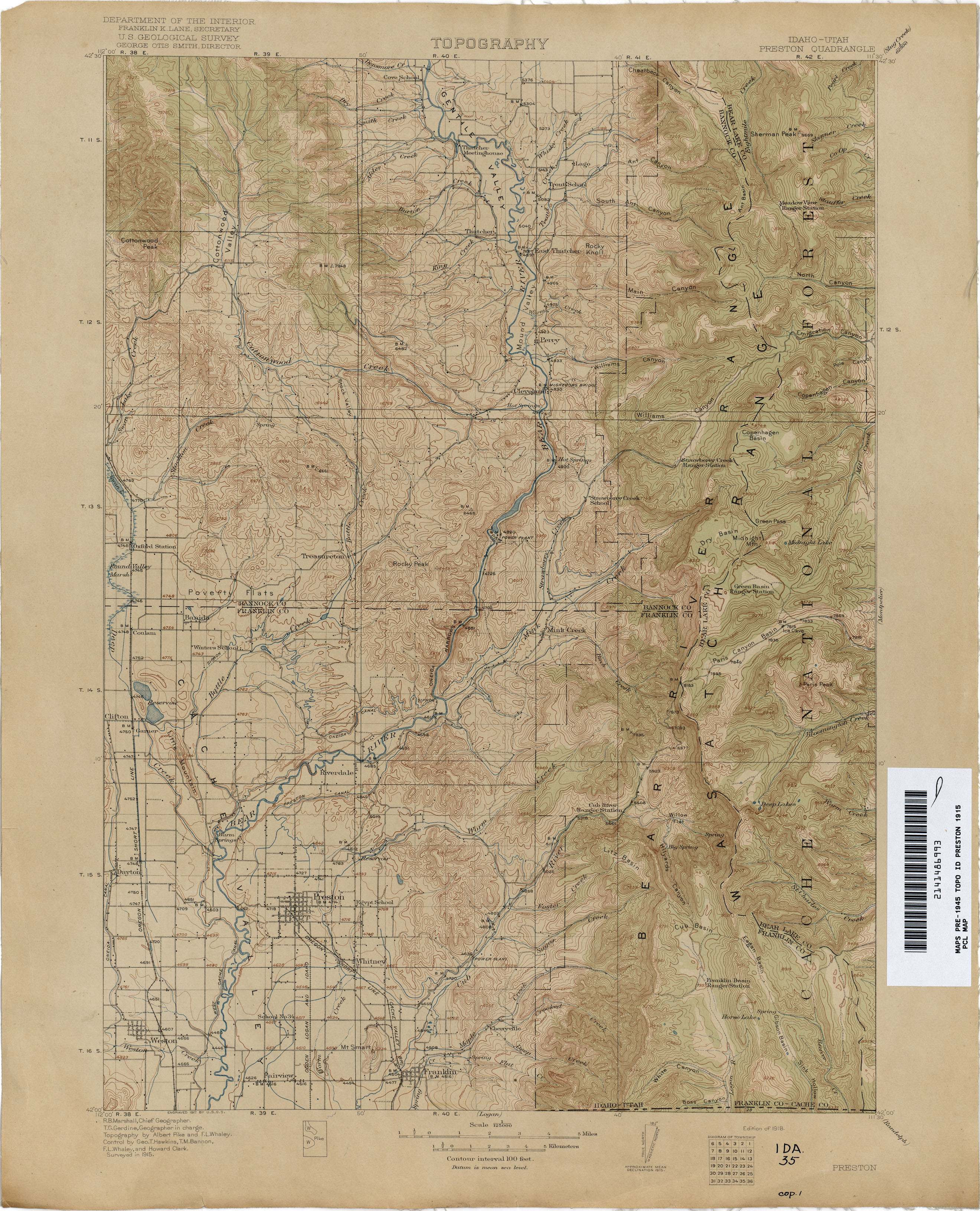 Idaho Historical Topographic Maps Perry Castaneda Map Collection