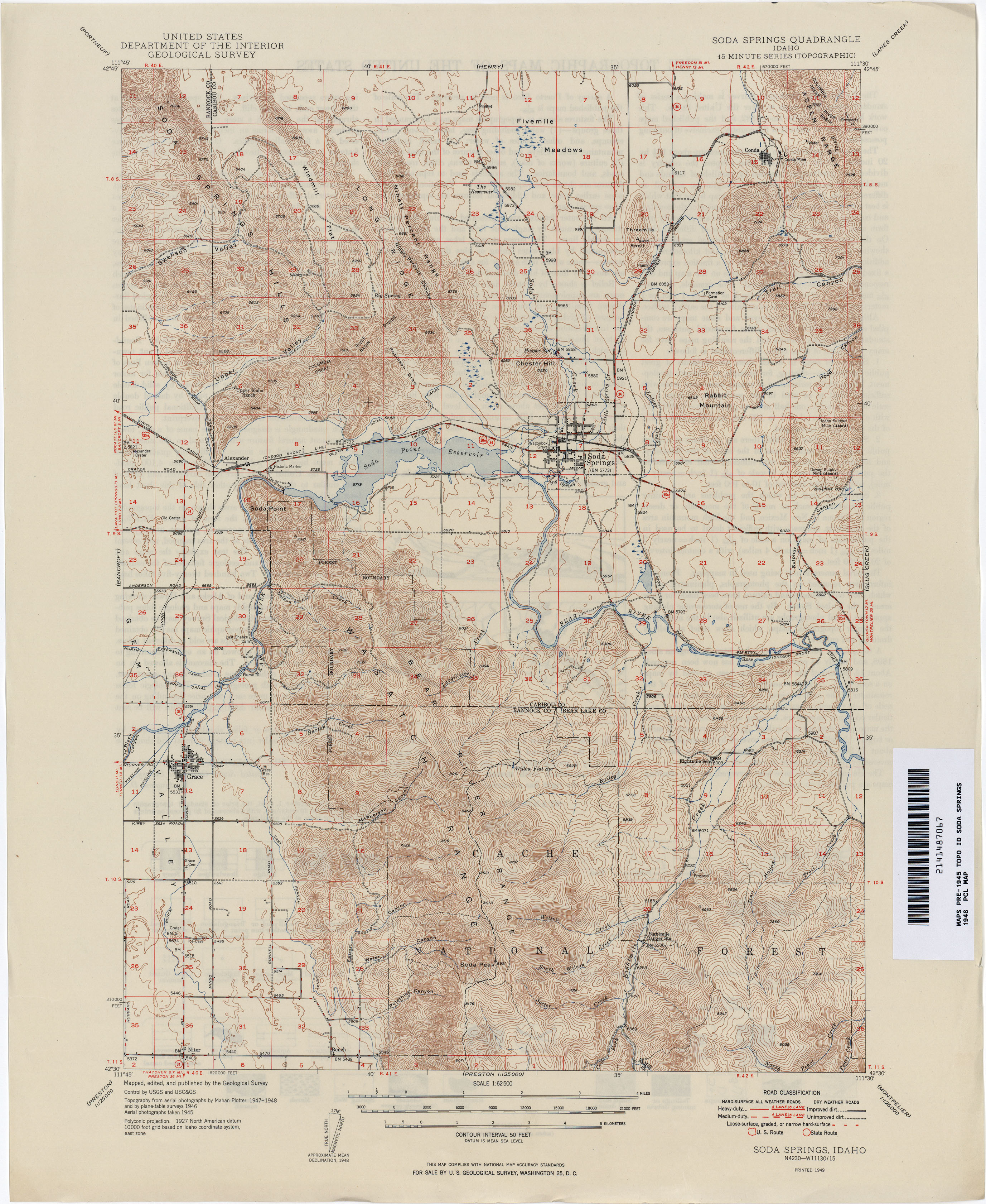 Idaho Historical Topographic Maps PerryCastañeda Map Collection - Us topographic road map