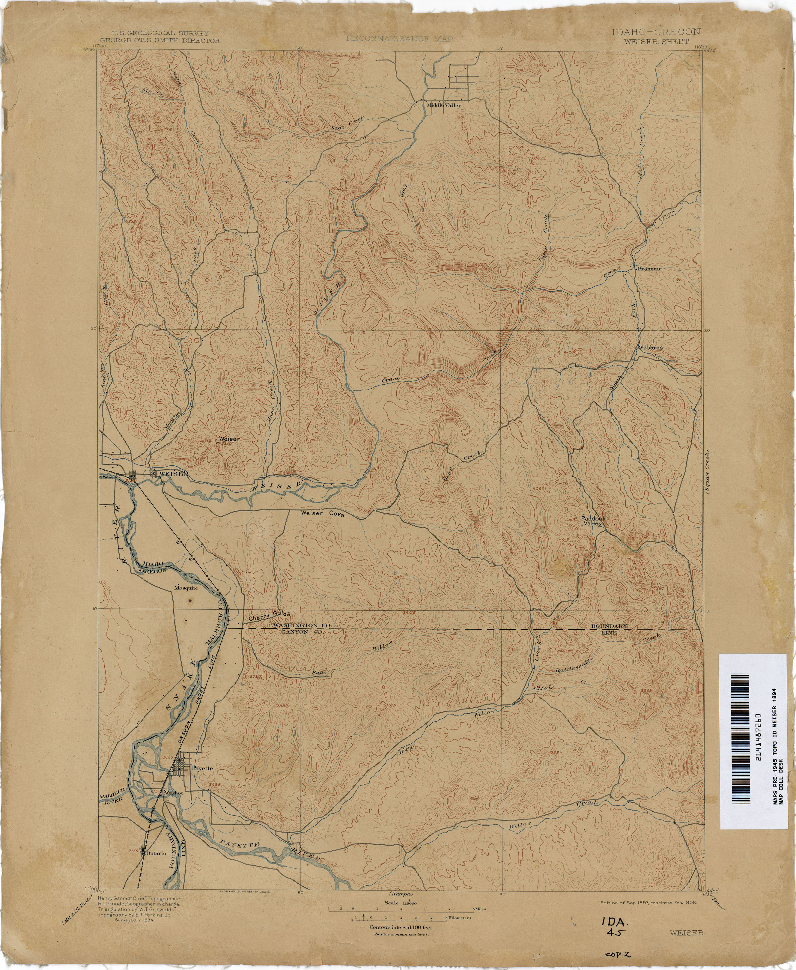 map of weiser idaho Idaho Historical Topographic Maps Perry Castaneda Map Collection map of weiser idaho