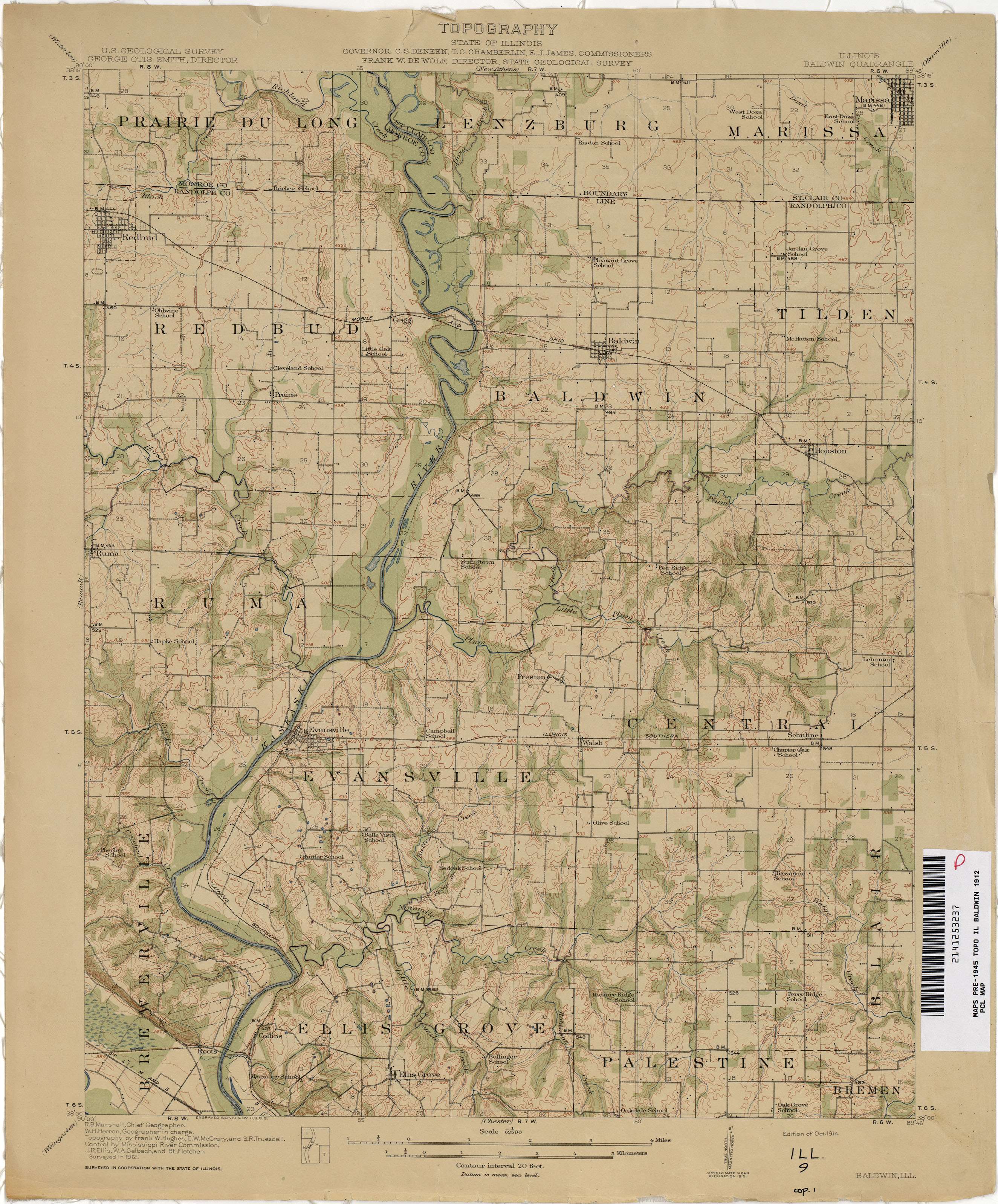 Illinois Historical Topographic Maps - Perry-Castañeda Map ... on