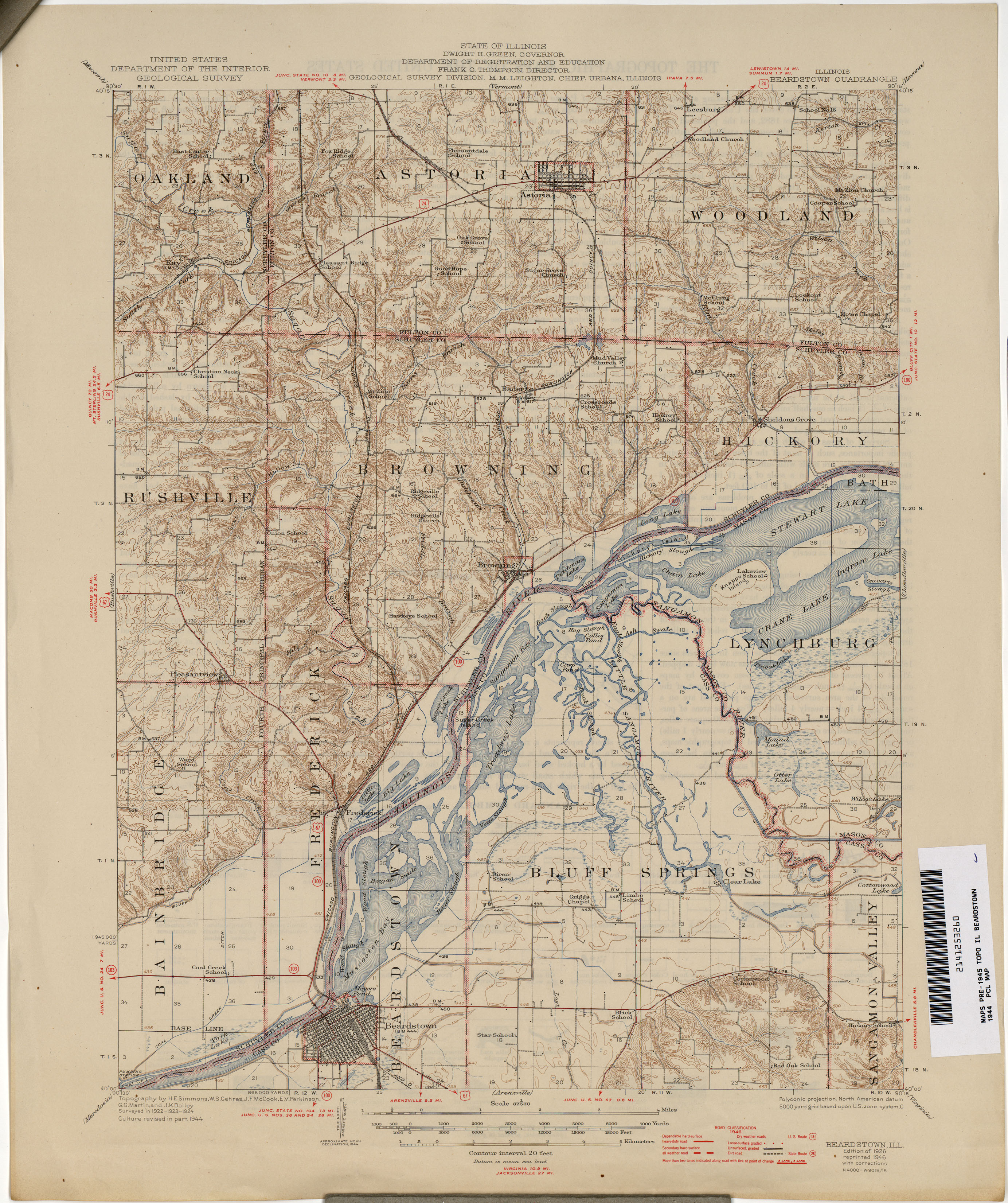 Illinois Historical Topographic Maps  PerryCastaeda Map