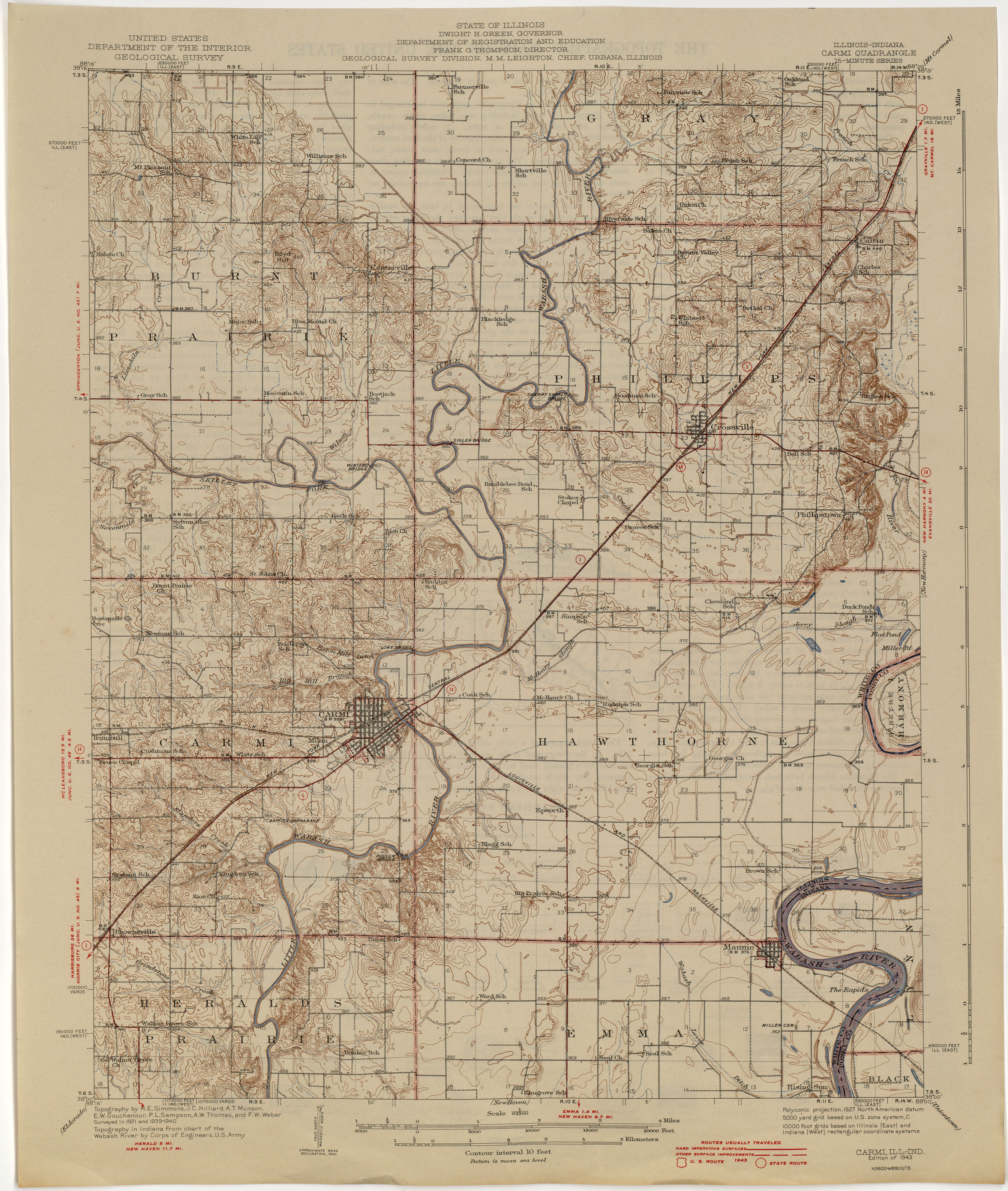 Illinois Historical Topographic Maps PerryCastañeda Map - Us highway map 1940