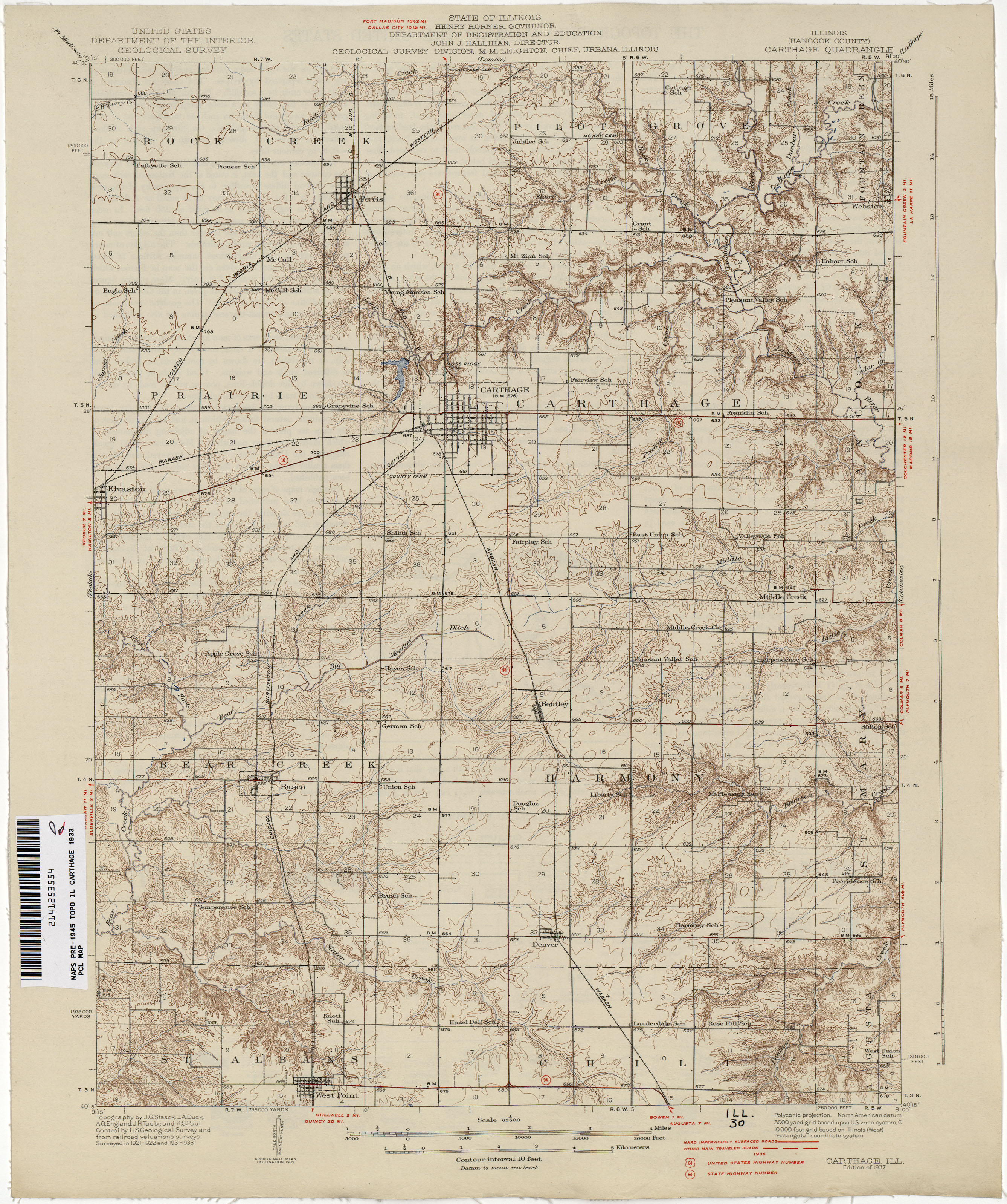Illinois Historical Topographic Maps   Perry Castañeda Map