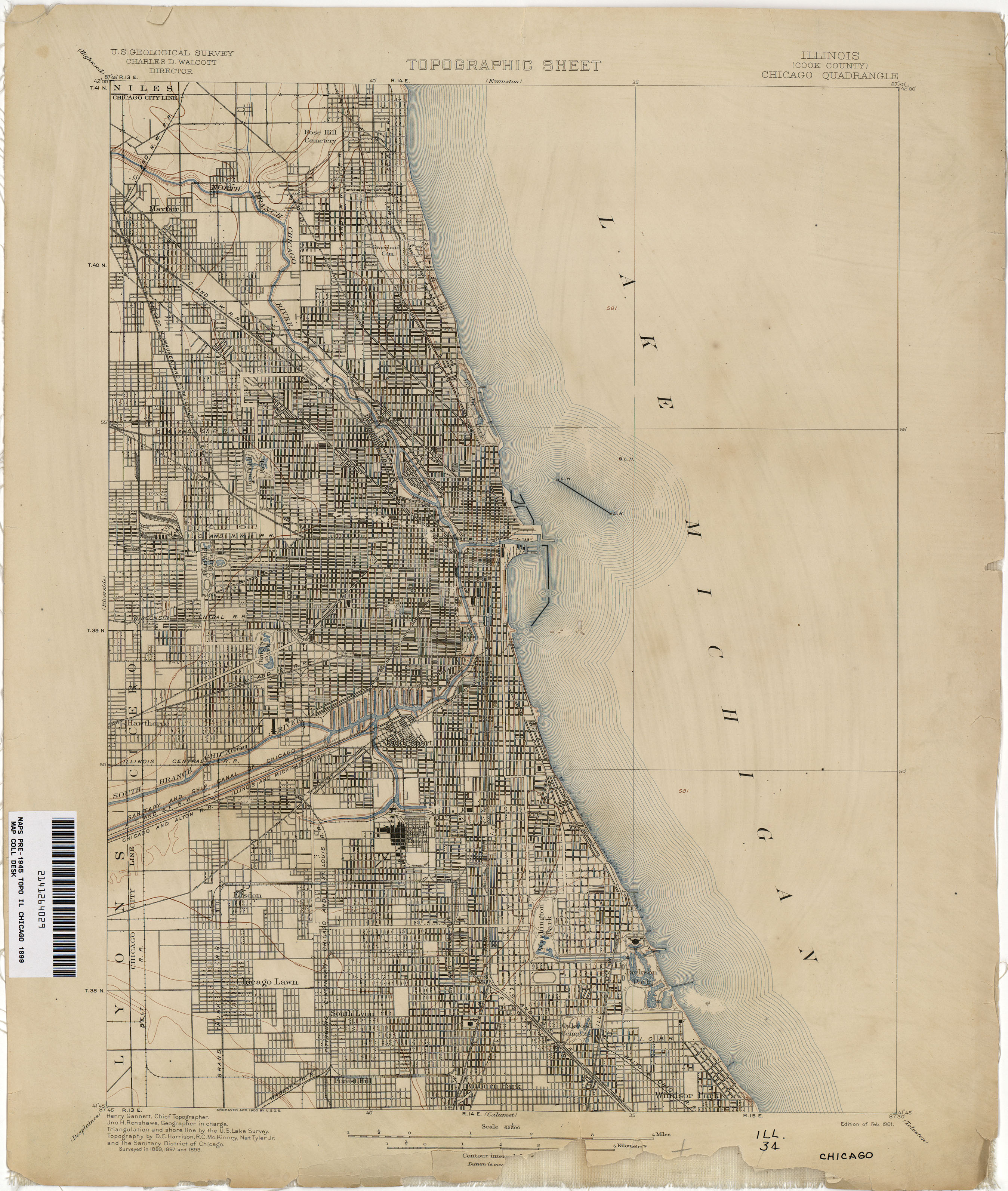 Topographic Map Chicago Illinois Historical Topographic Maps   Perry Castañeda Map