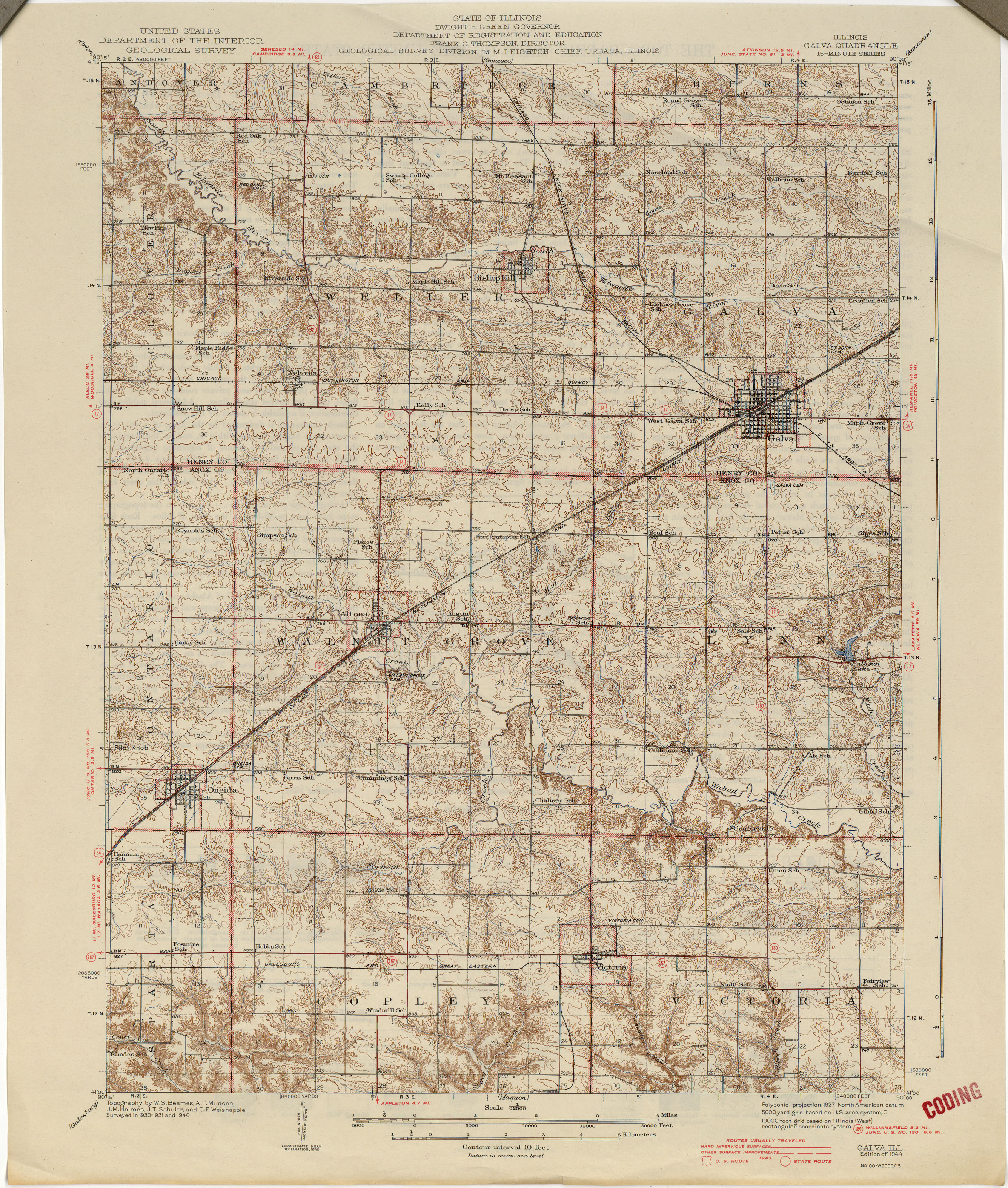 Illinois Historical Topographic Maps PerryCastañeda Map - Map from 1940 us