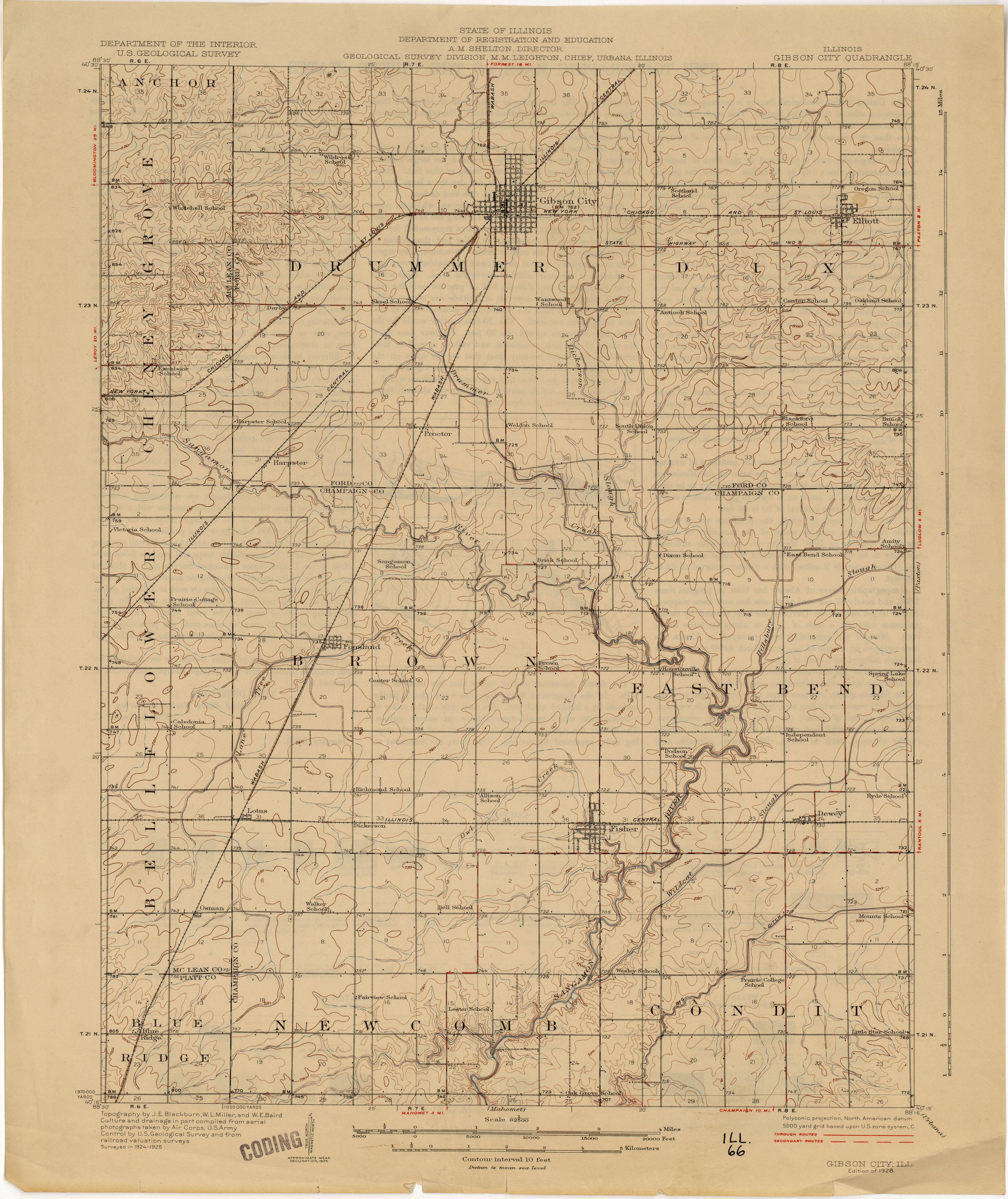 Illinois Historical Topographic Maps PerryCastañeda Map - Illinois cities map