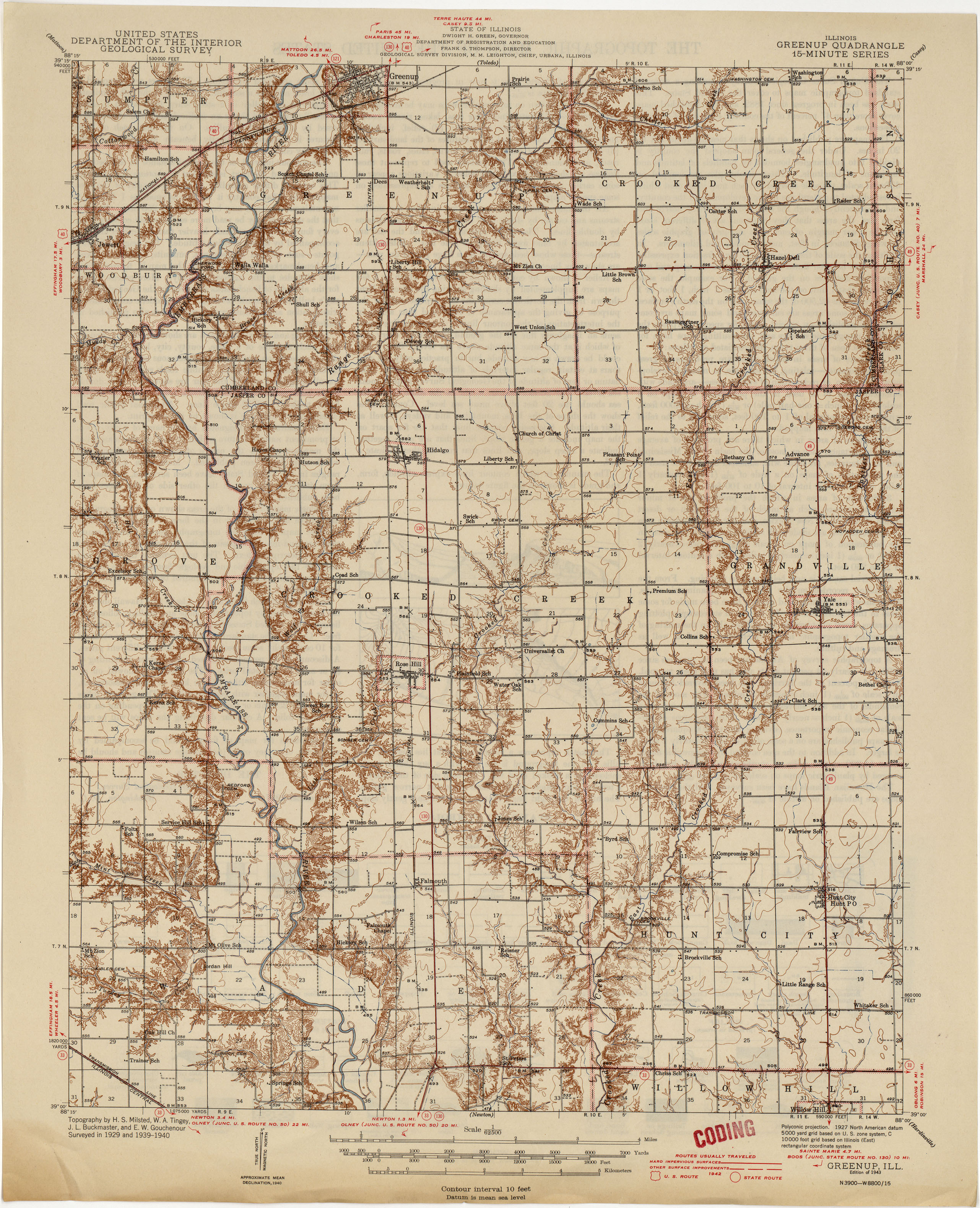 Illinois Historical Topographic Maps Perry Castaneda Map