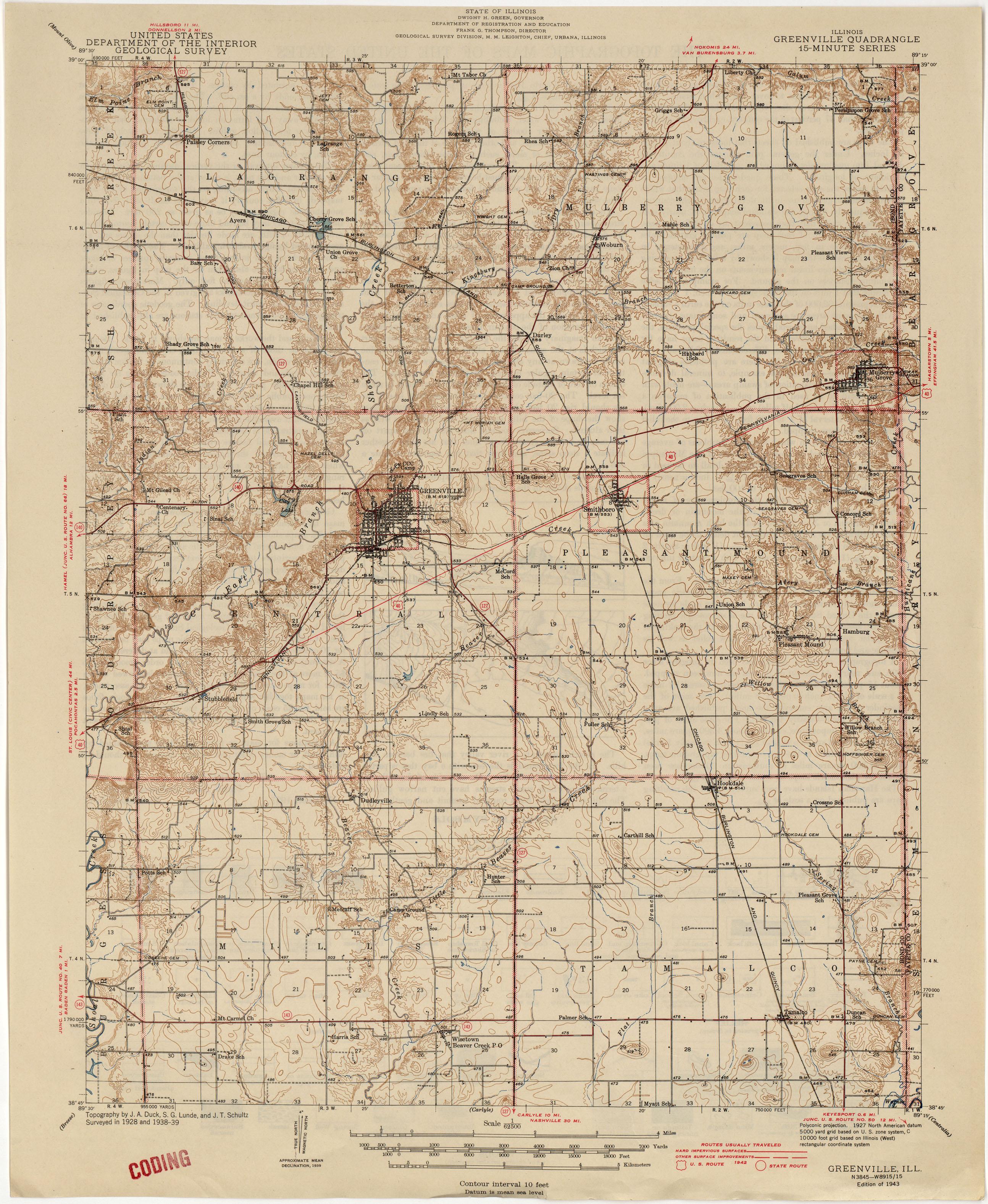 Illinois Historical Topographic Maps PerryCastañeda Map - Illinois maps