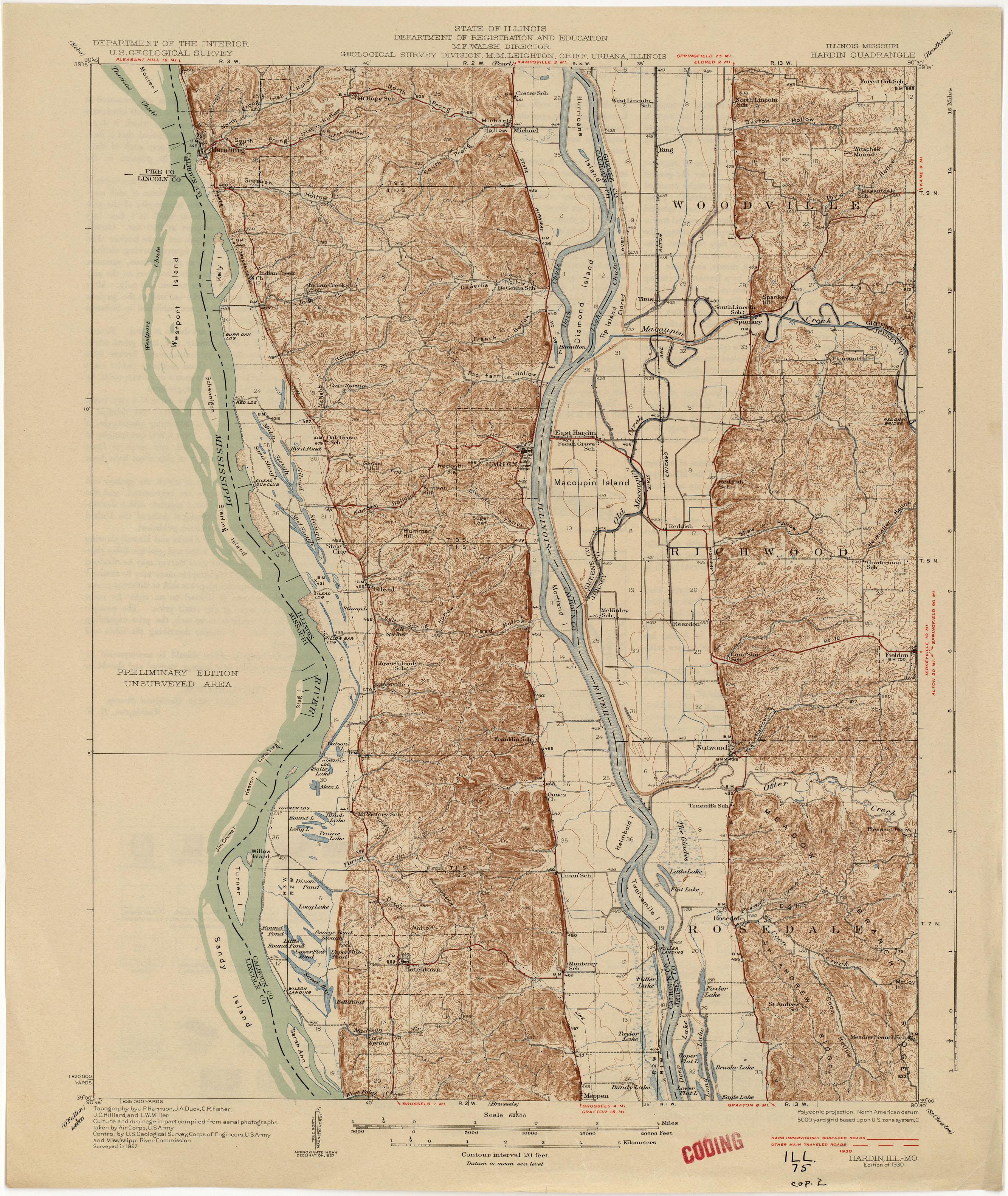 illinois historical topographic maps