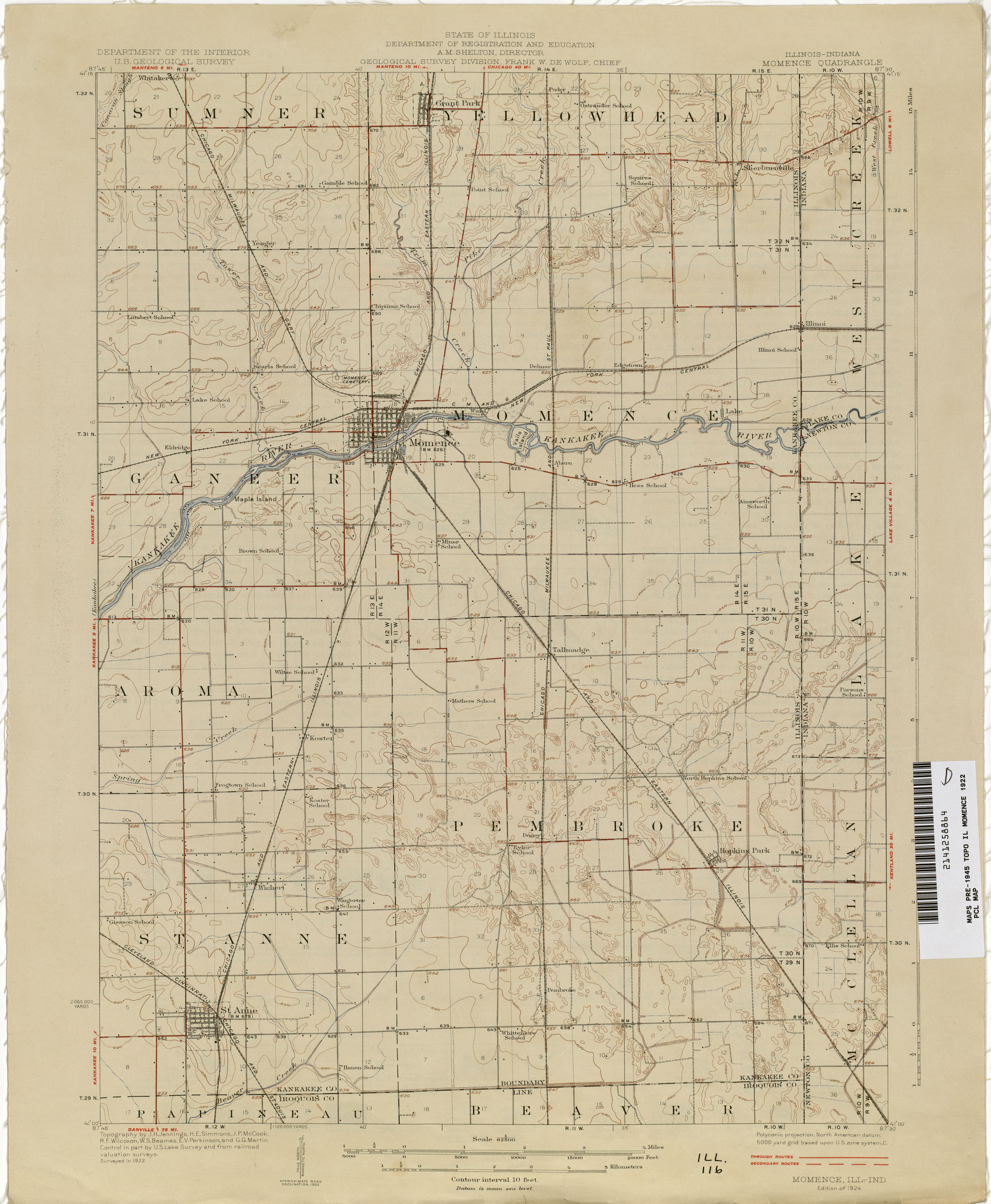 Indiana Historical Topographic Maps PerryCastañeda Map - Maps of indiana