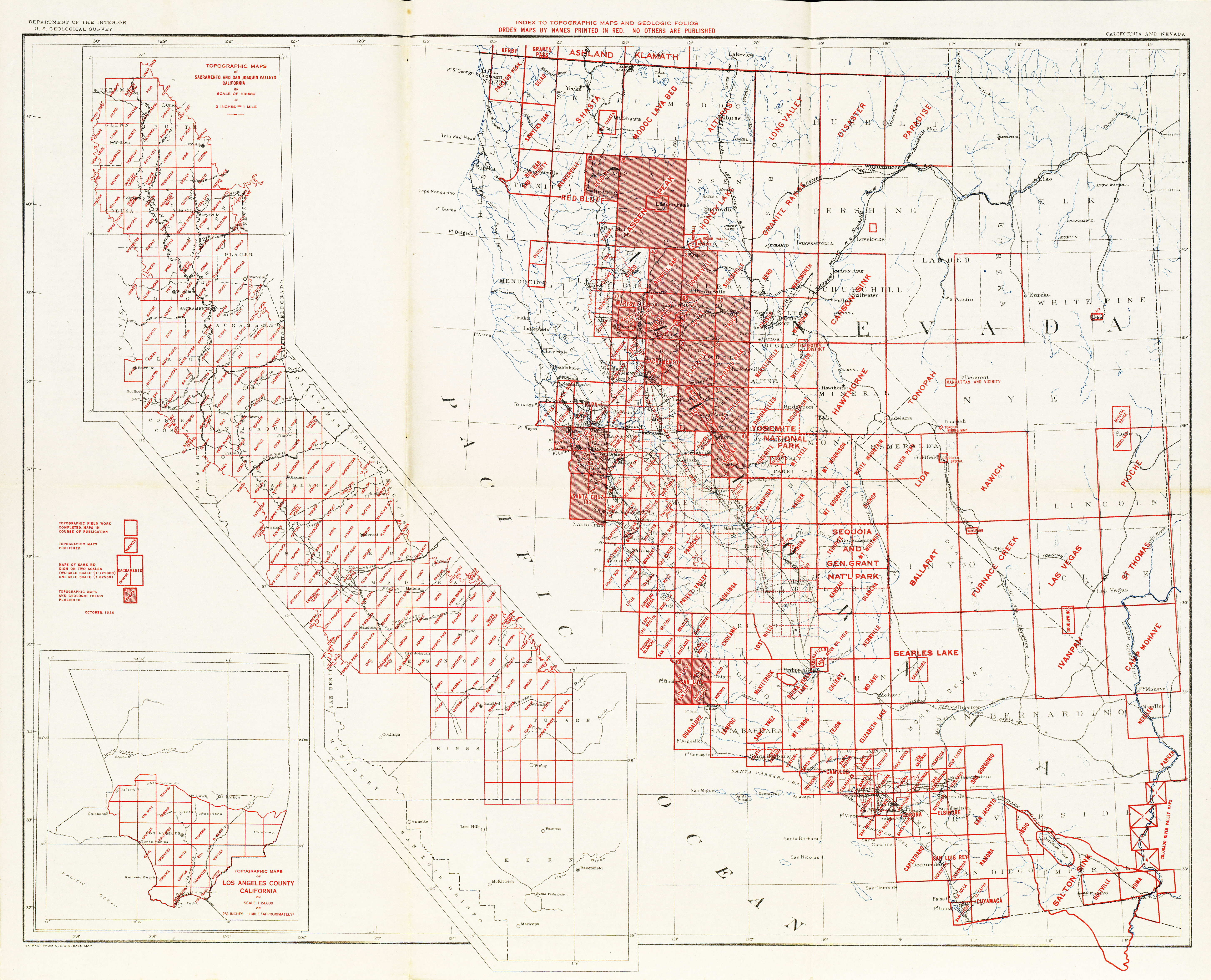 California Topographic Maps PerryCastañeda Map Collection UT - Elevation map of california