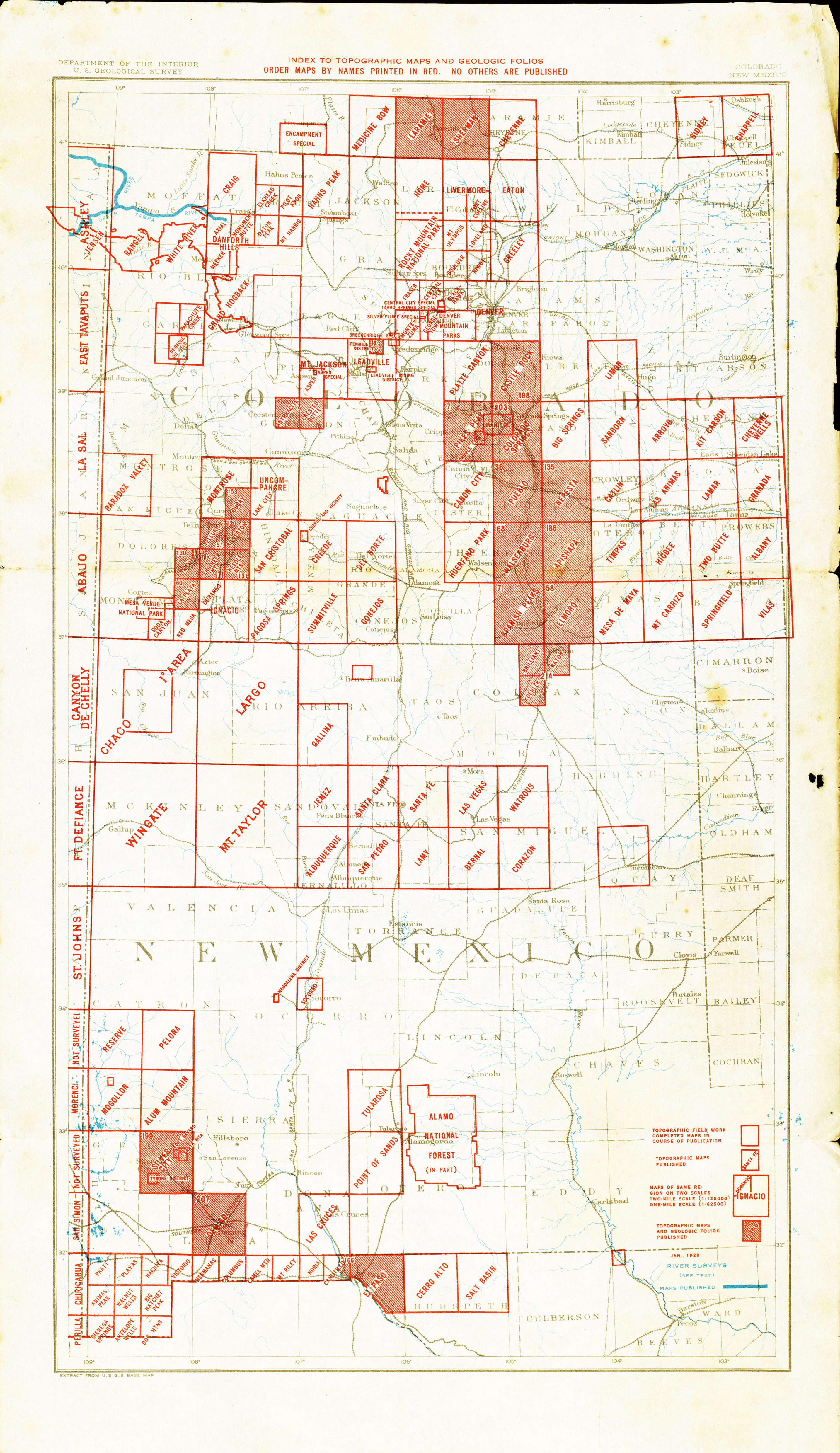 New Mexico Historical Topographic Maps PerryCastañeda Map - New mexico elevation map