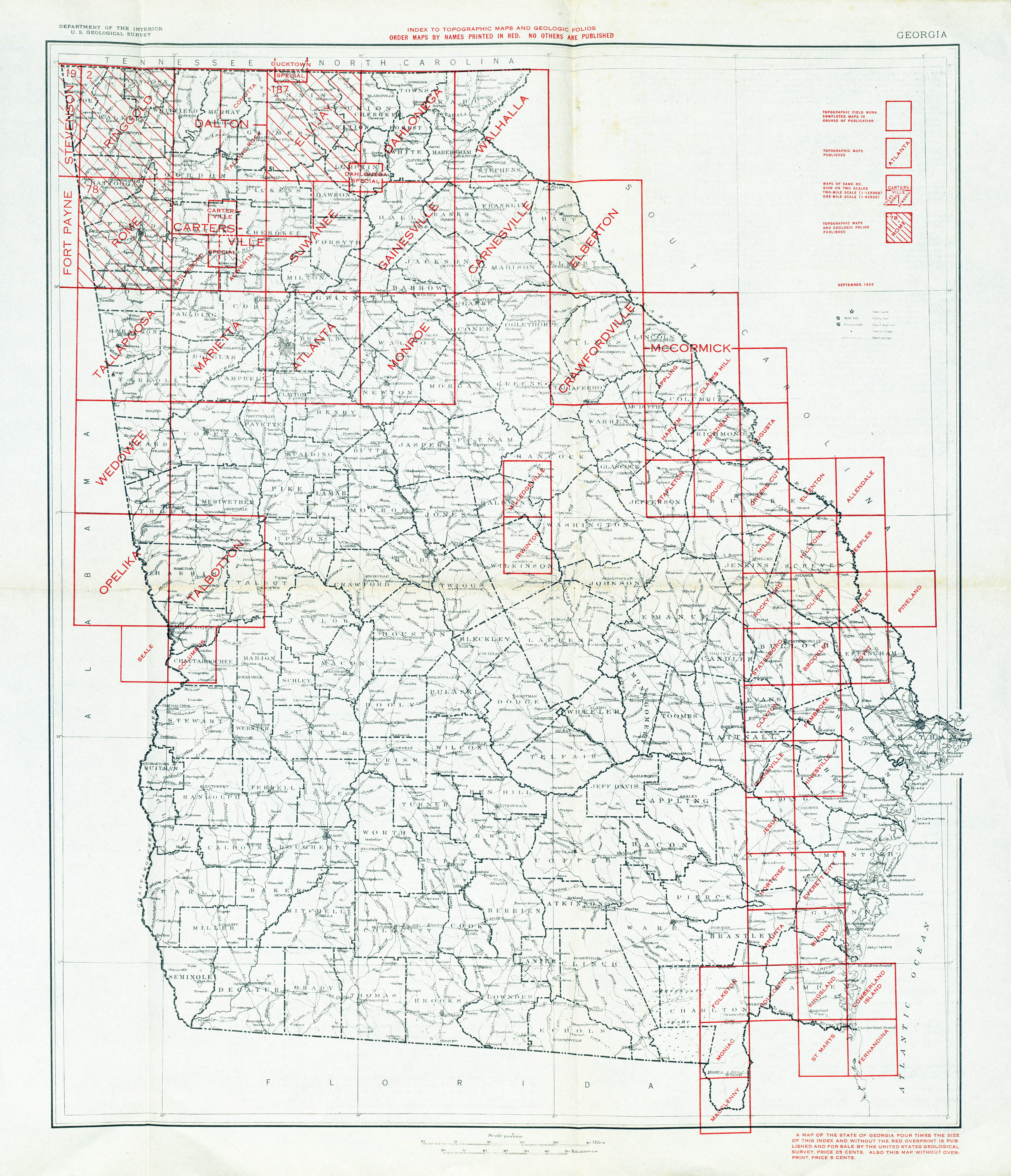 Georgia Historical Topographic Maps PerryCastañeda Map - Ga maps