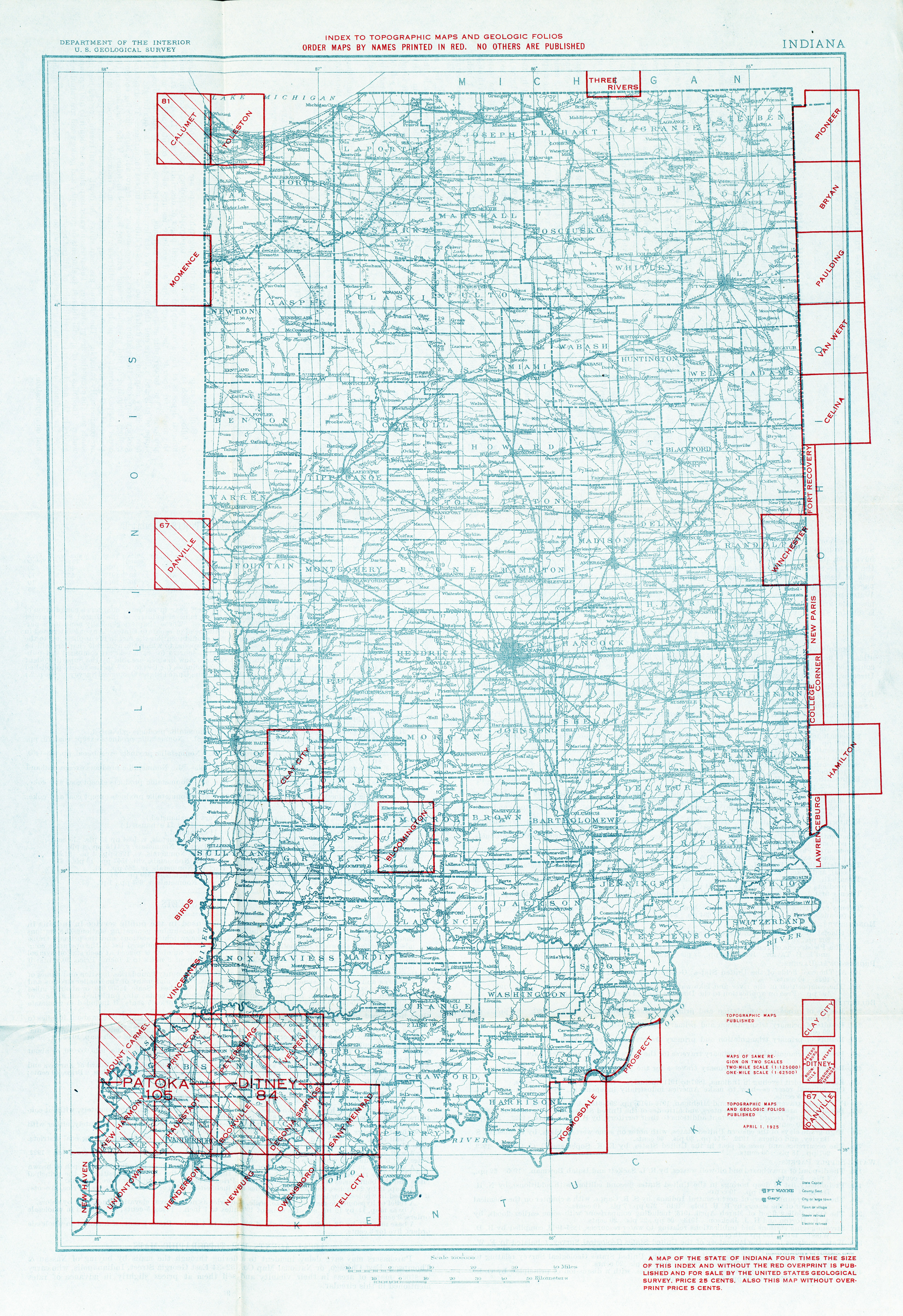 Indiana Historical Topographic Maps - Perry-Castañeda Map Collection ...