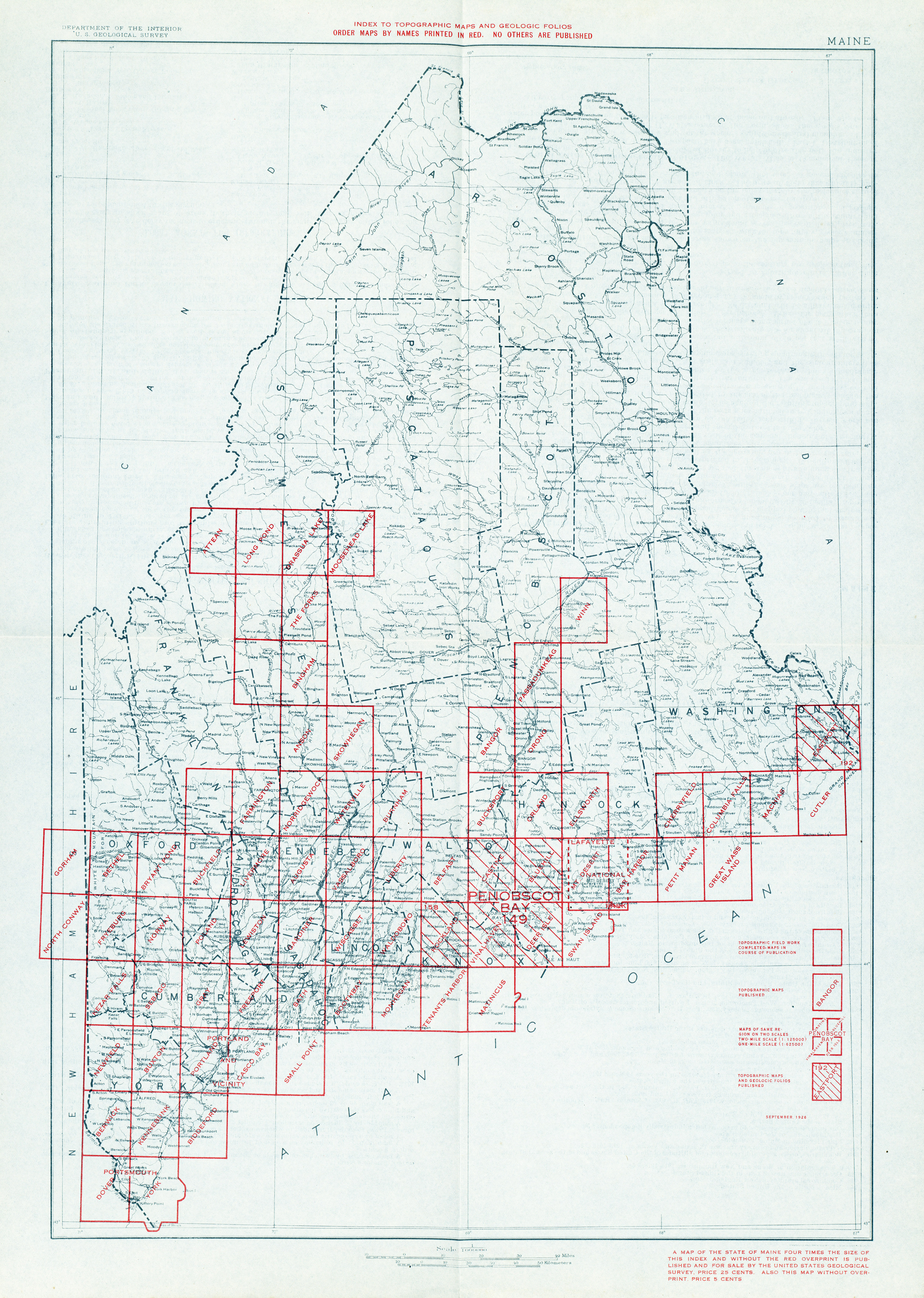 Maine Historical Topographic Maps PerryCastañeda Map Collection - Topographical map of maine