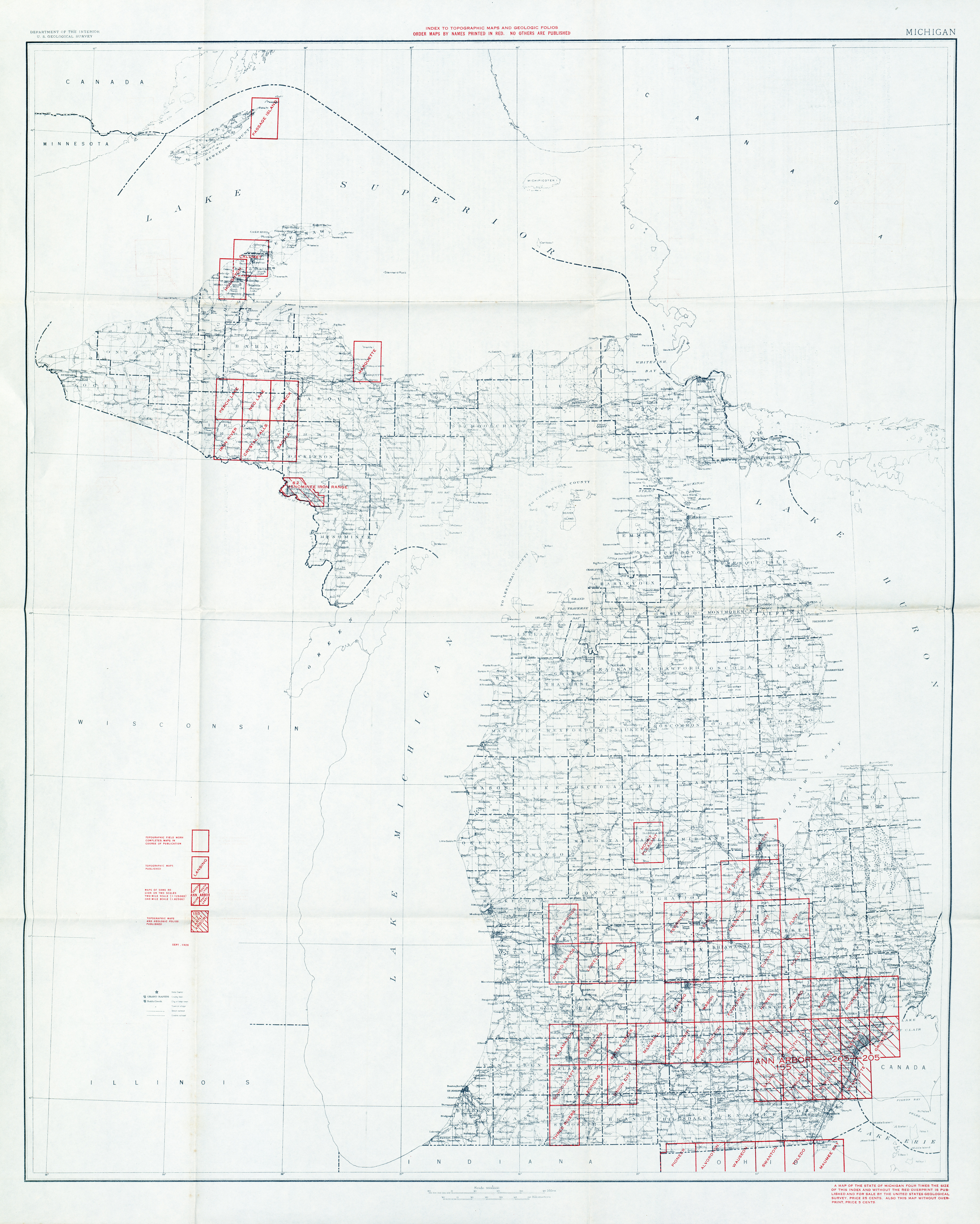 Historical Topographic Maps PerryCastañeda Map Collection UT - Michigan maps
