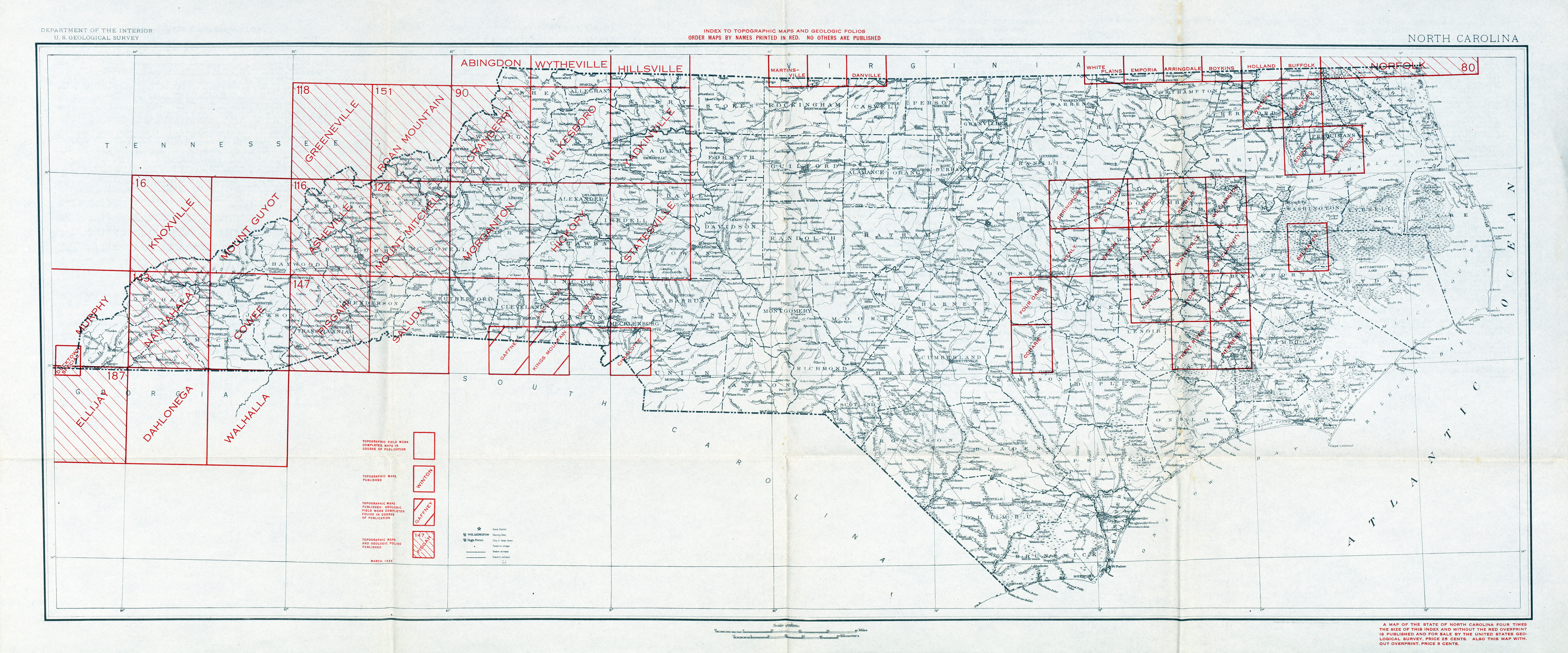 North Carolina Historical Topographic Maps   Perry Castañeda Map