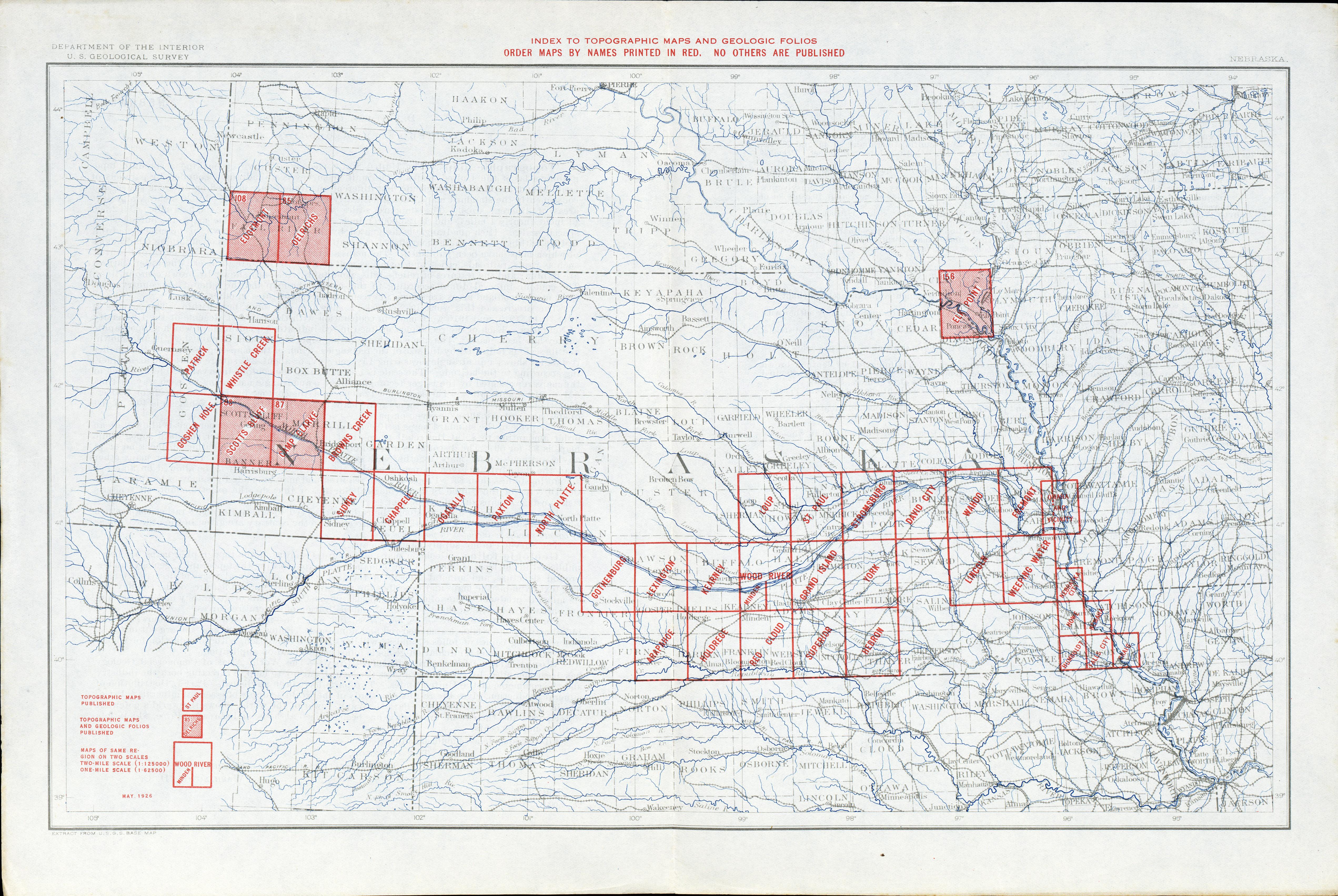 Nebraska Historical Topographic Maps PerryCastañeda Map - Ne maps
