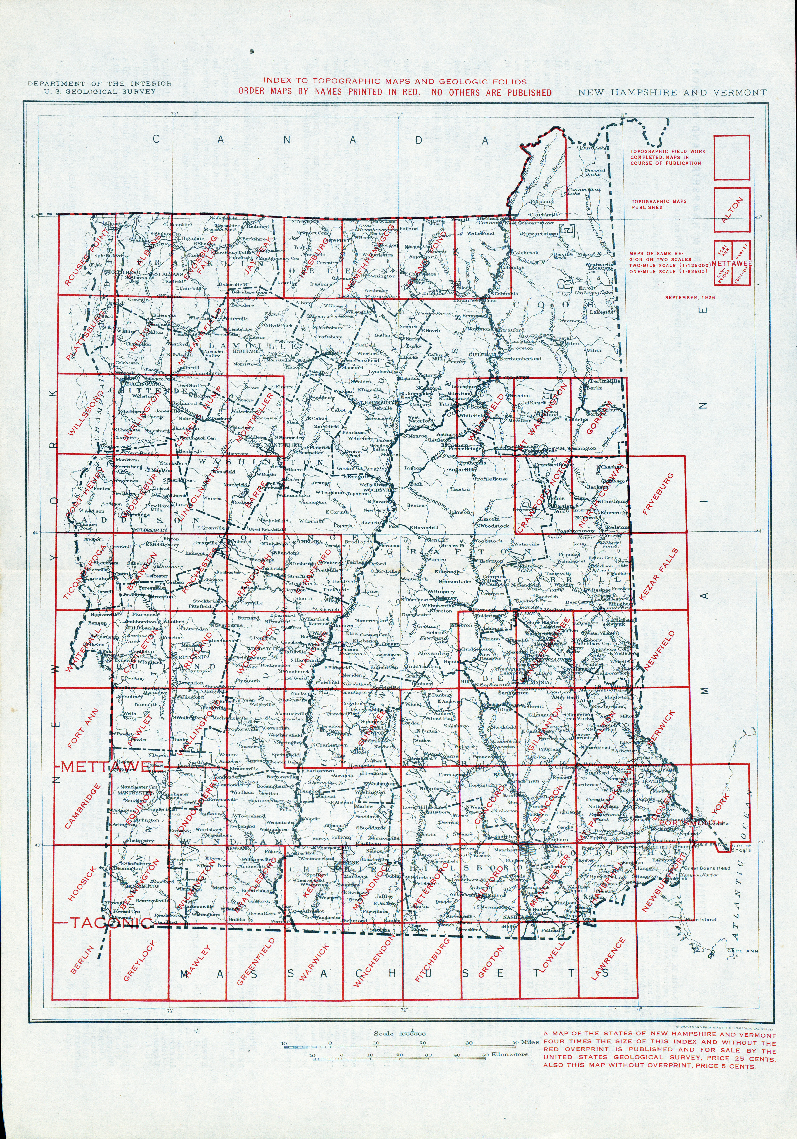 New Hampshire Topographic Maps PerryCastañeda Map Collection - Map of nh