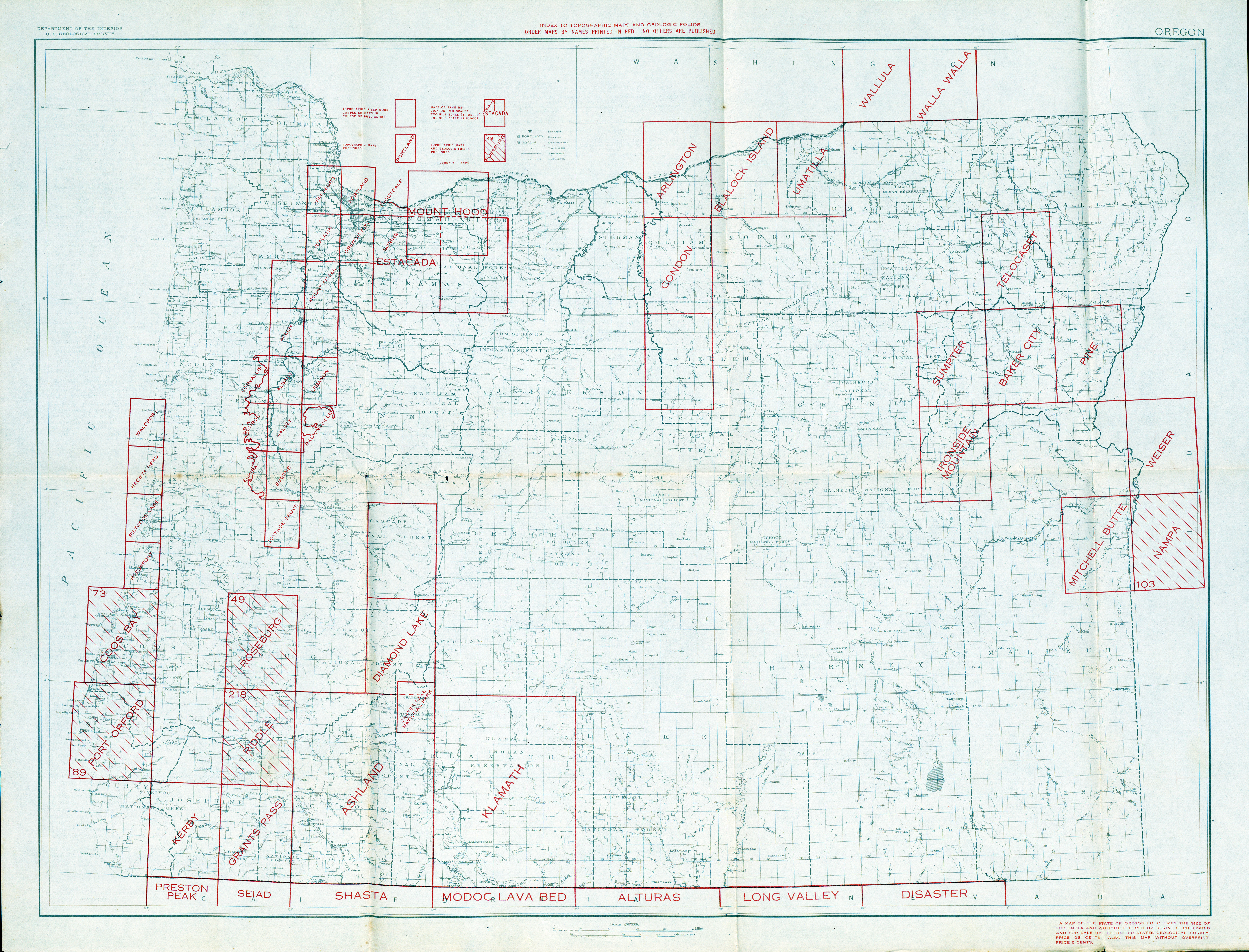 Oregon Historical Topographic Maps - Perry-Castañeda Map Collection ...