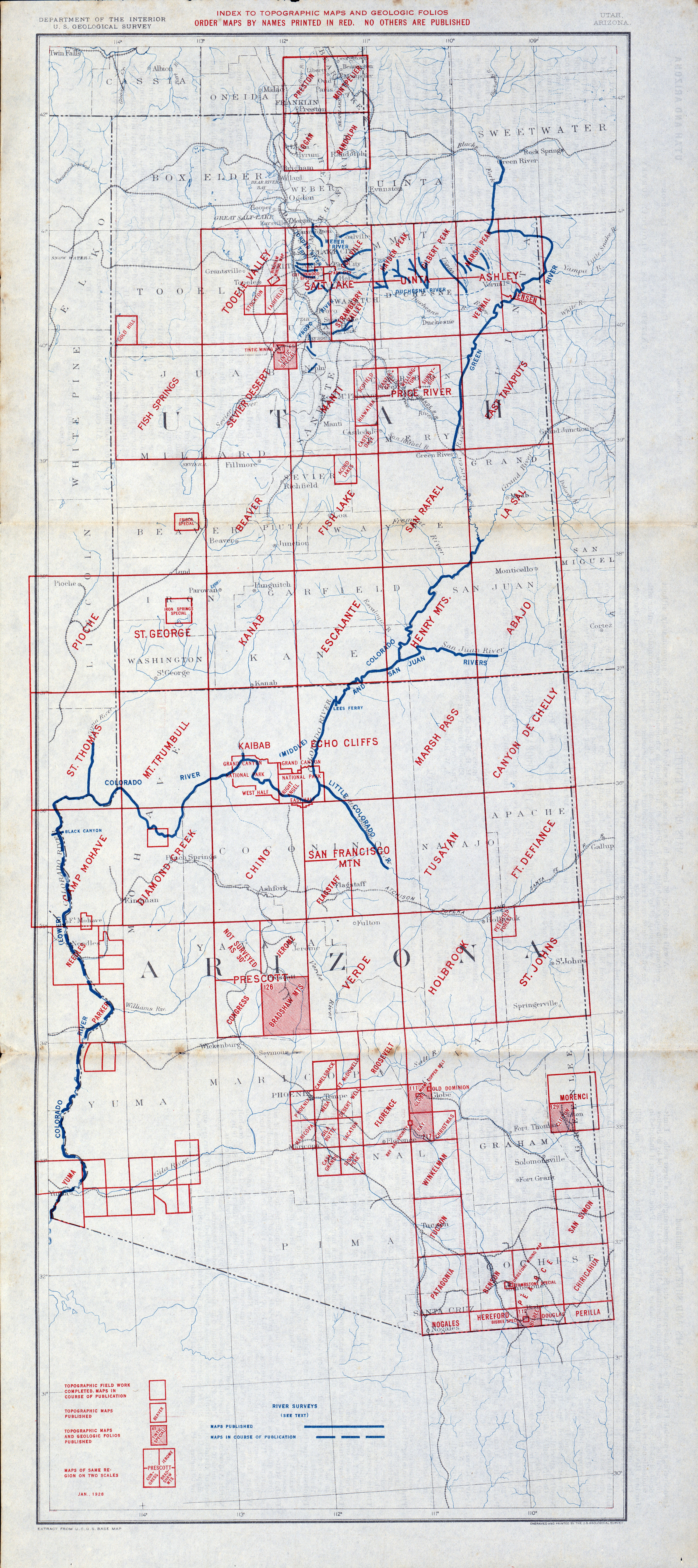 Arizona Historical Topographic Maps - Perry-Castañeda Map Collection ...