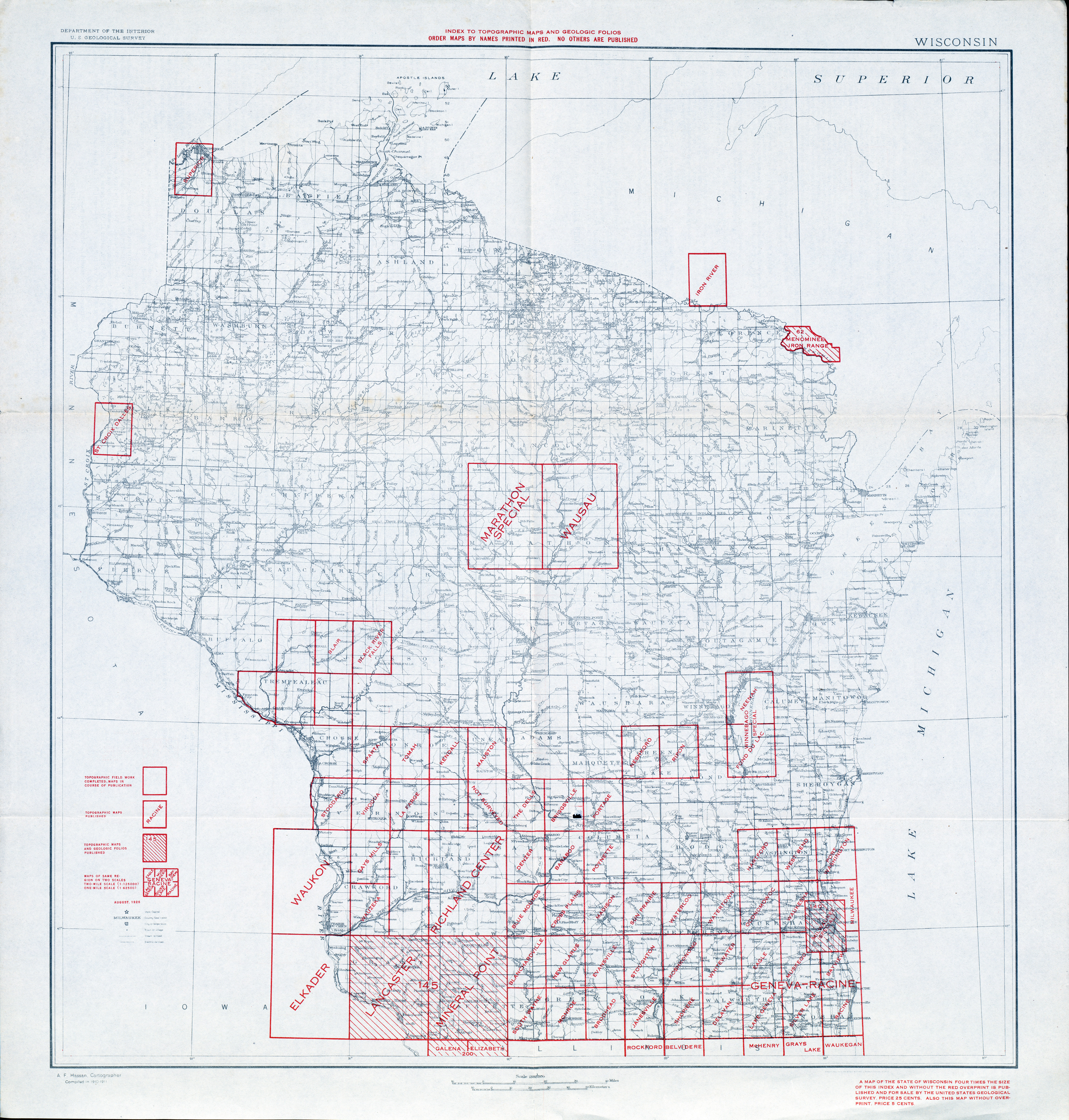 Historical Topographic Maps PerryCastañeda Map Collection UT - Wiscinsin map