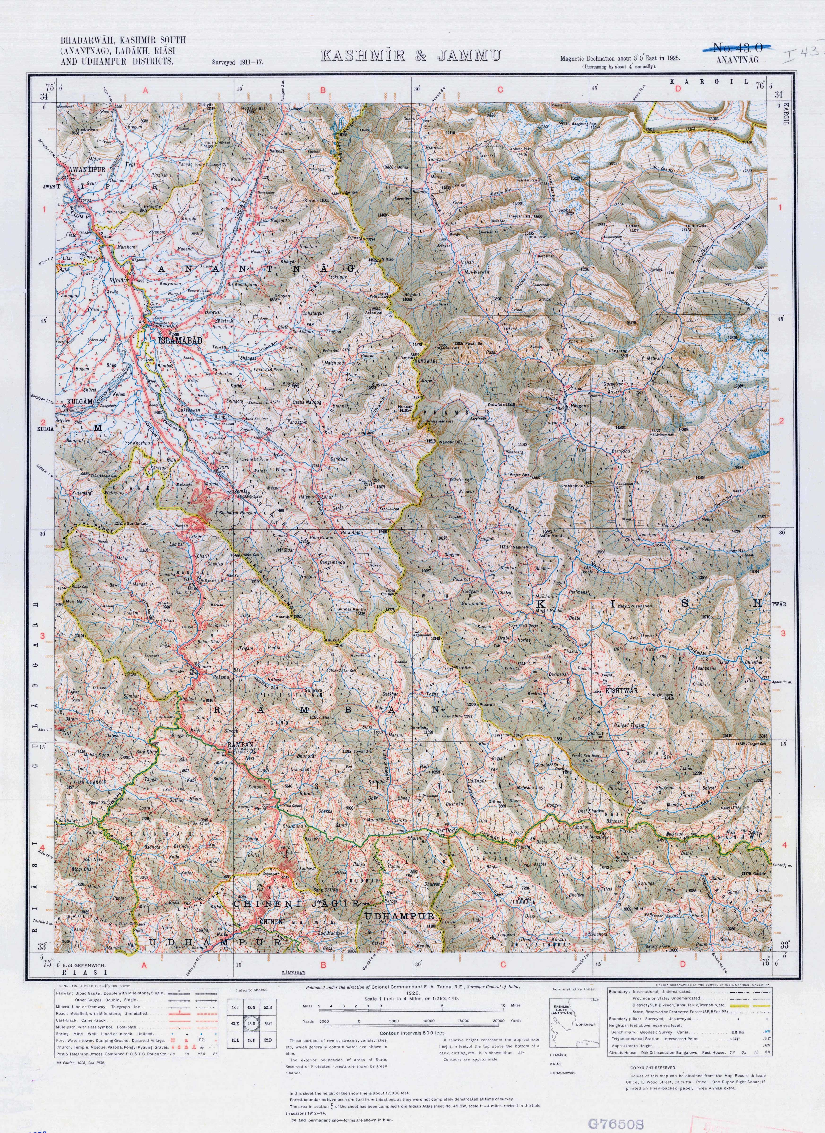 India Topographic Maps Perry Castaneda Map Collection Ut Library