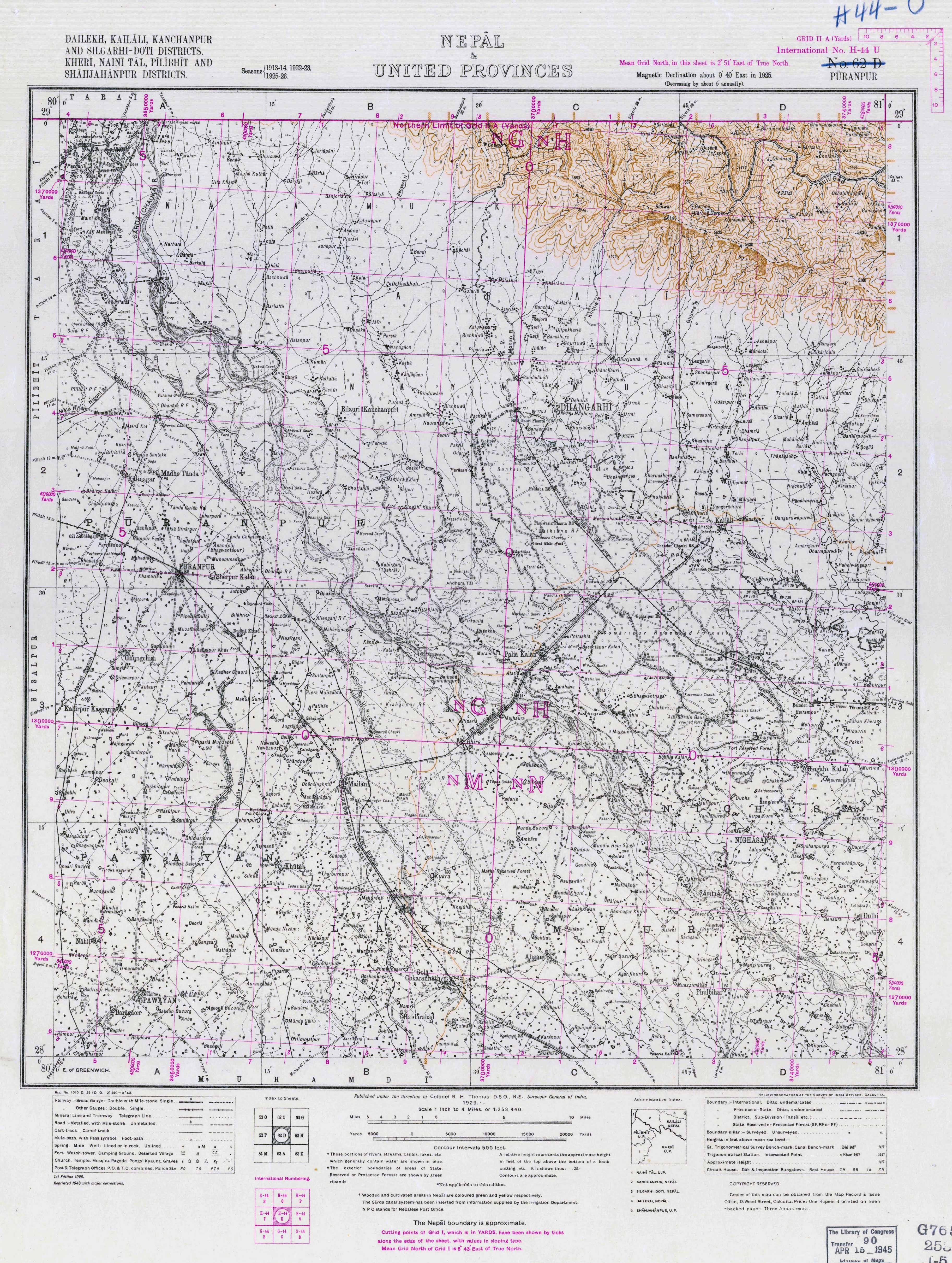 India Topographic Maps PerryCastañeda Map Collection UT - Ne maps