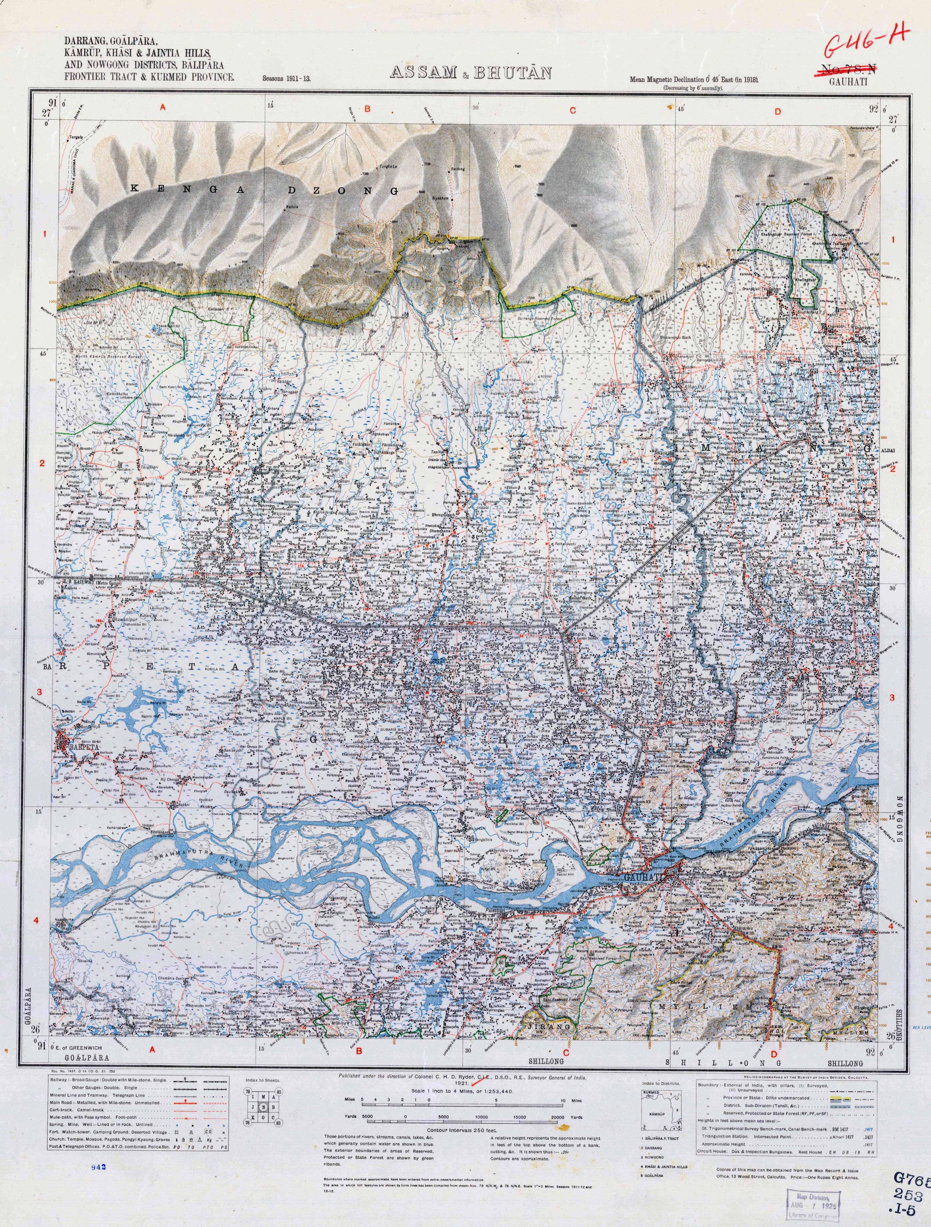India Topographic Maps PerryCastañeda Map Collection UT - Georgia map 1921