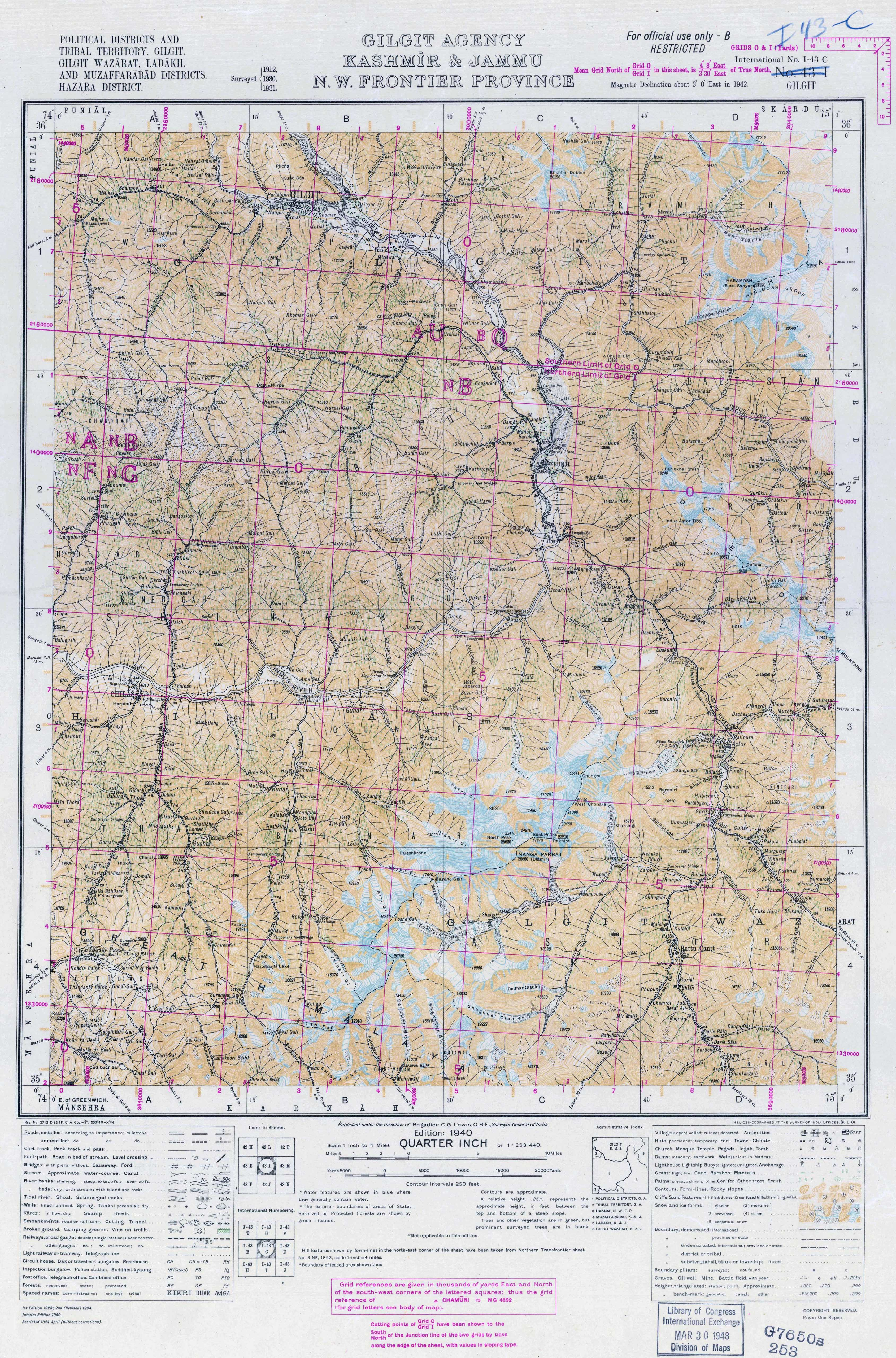 India Topographic Maps - Perry-Castañeda Map Collection