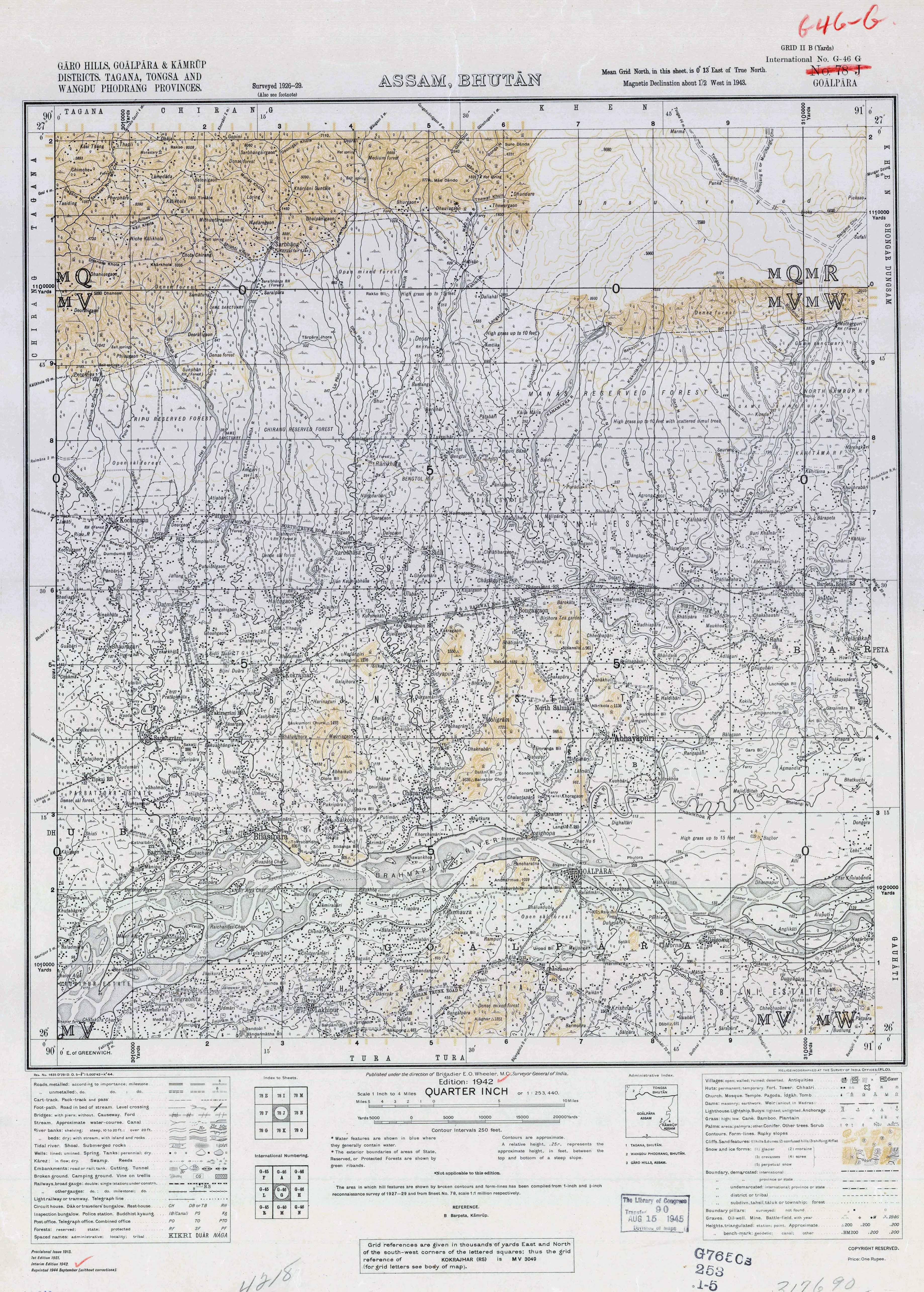 India Topographic Maps PerryCastaeda Map Collection UT Library