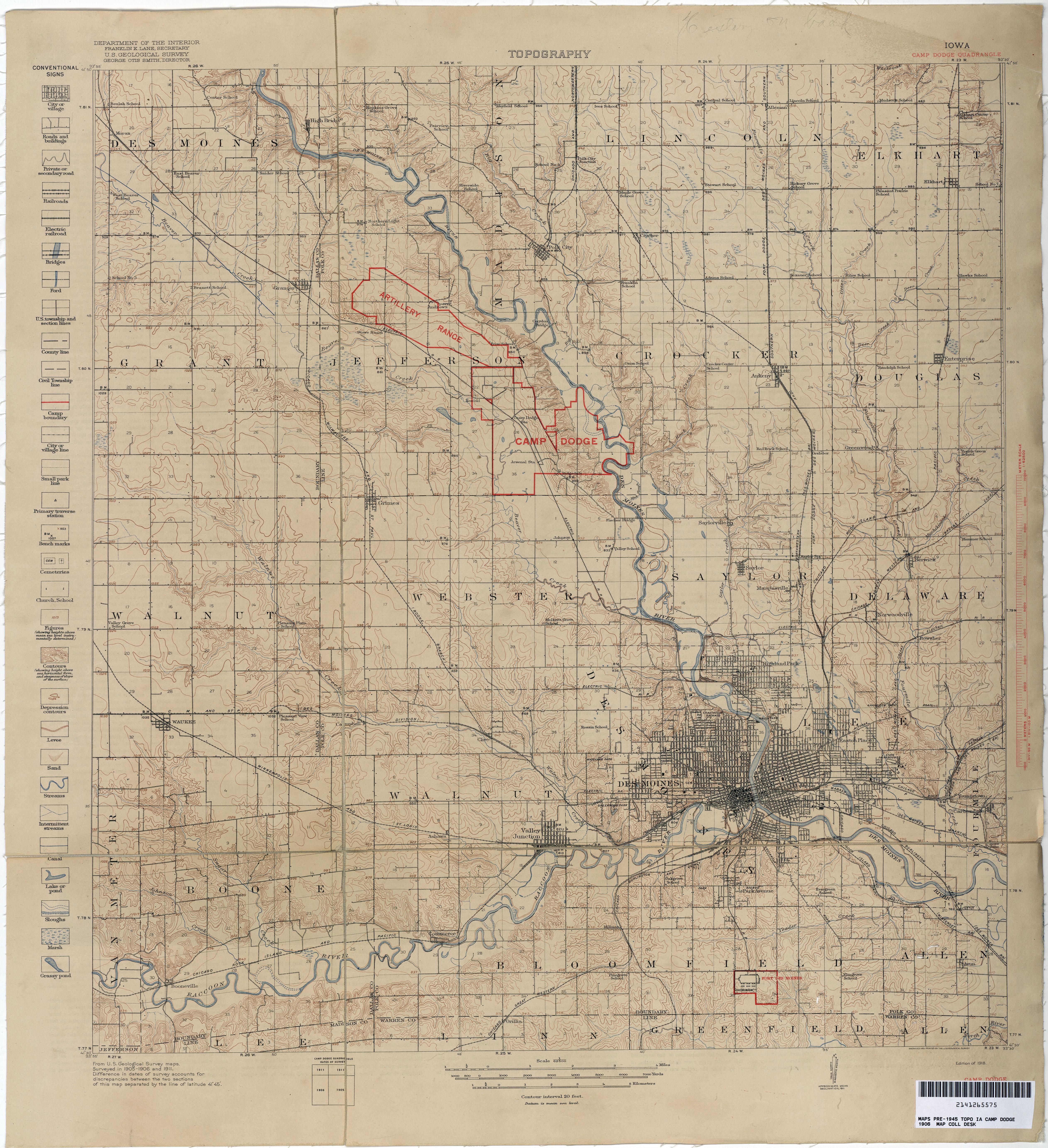 Iowa Historical Topographic Maps PerryCastañeda Map Collection - Iowa map