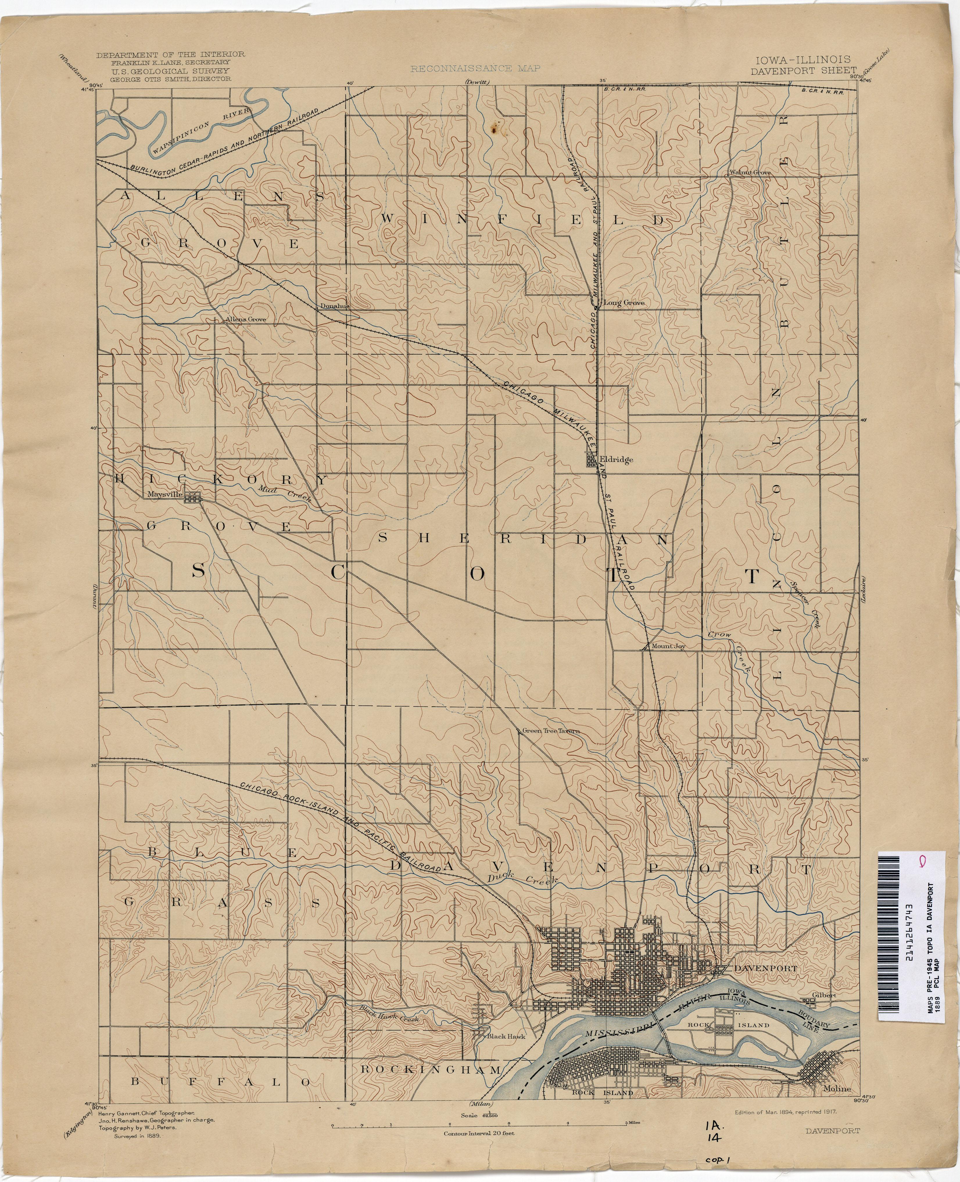 Iowa Historical Topographic Maps PerryCastañeda Map Collection - Map iowa